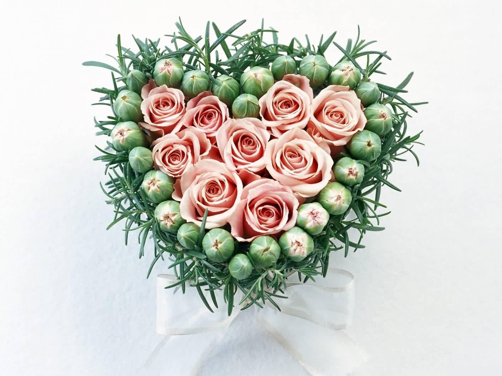 Сердце букет розы бесплатно