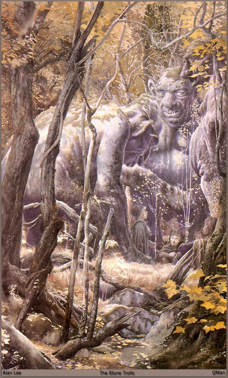 Обои для рабочего стола Alan Lee the stone trolls Фэнтези  для мобильного телефона Фантастика
