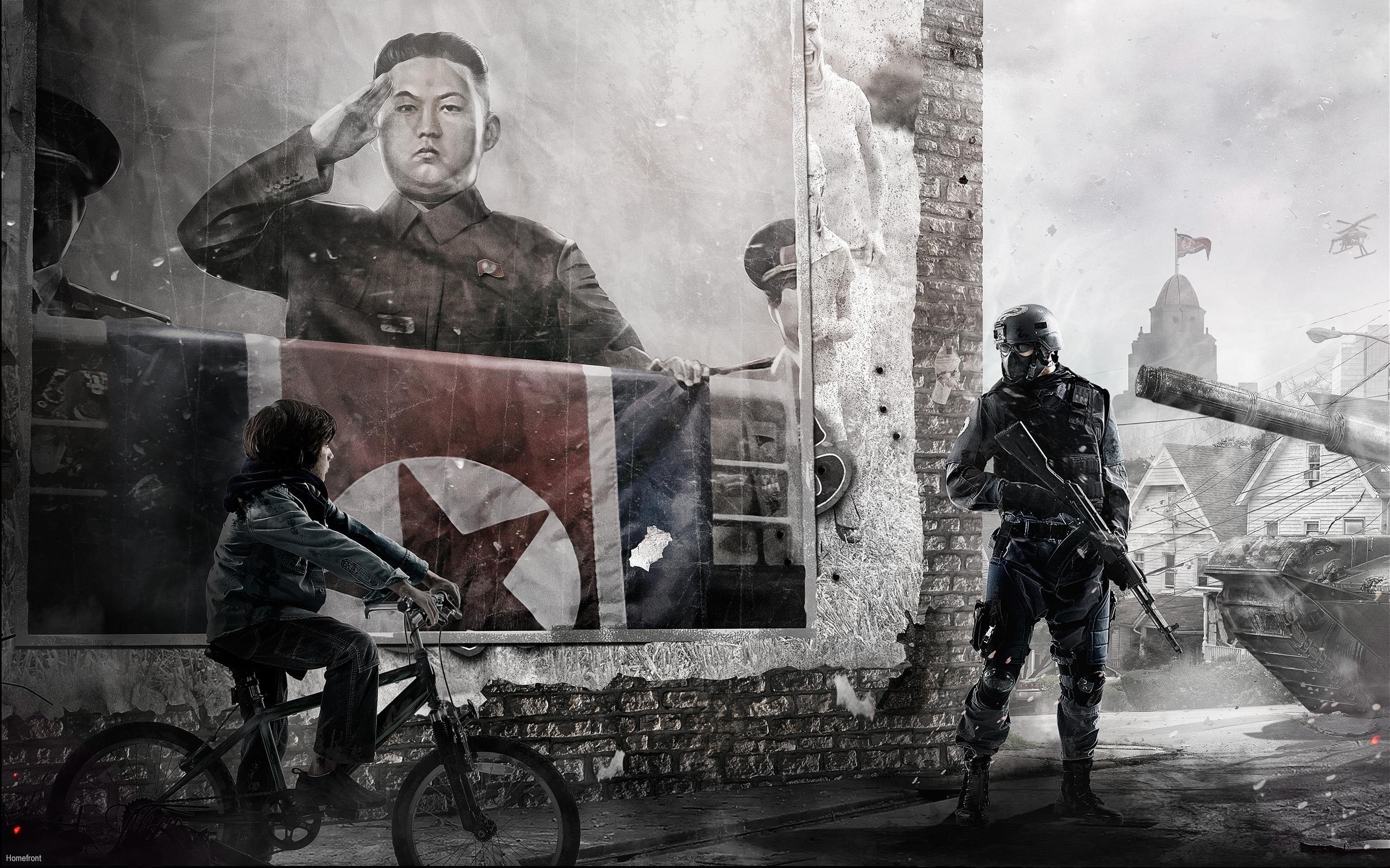 Солдаты с красным знаменем бесплатно
