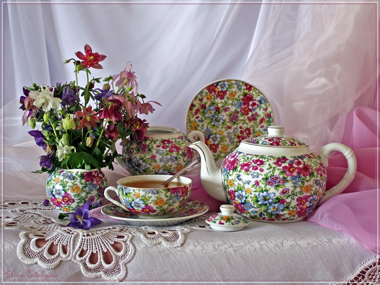 Обои, картинки Напитки : чайный сервис - Еда 239183