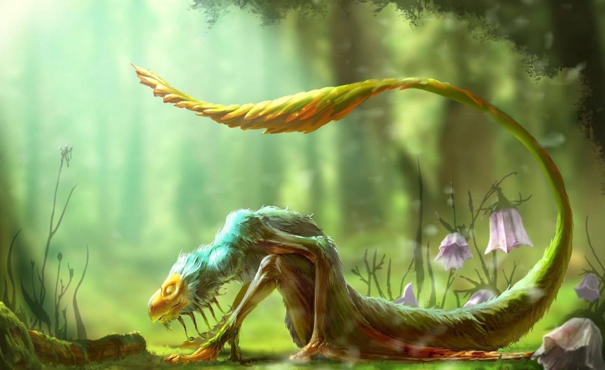 Fantasy forest creatures