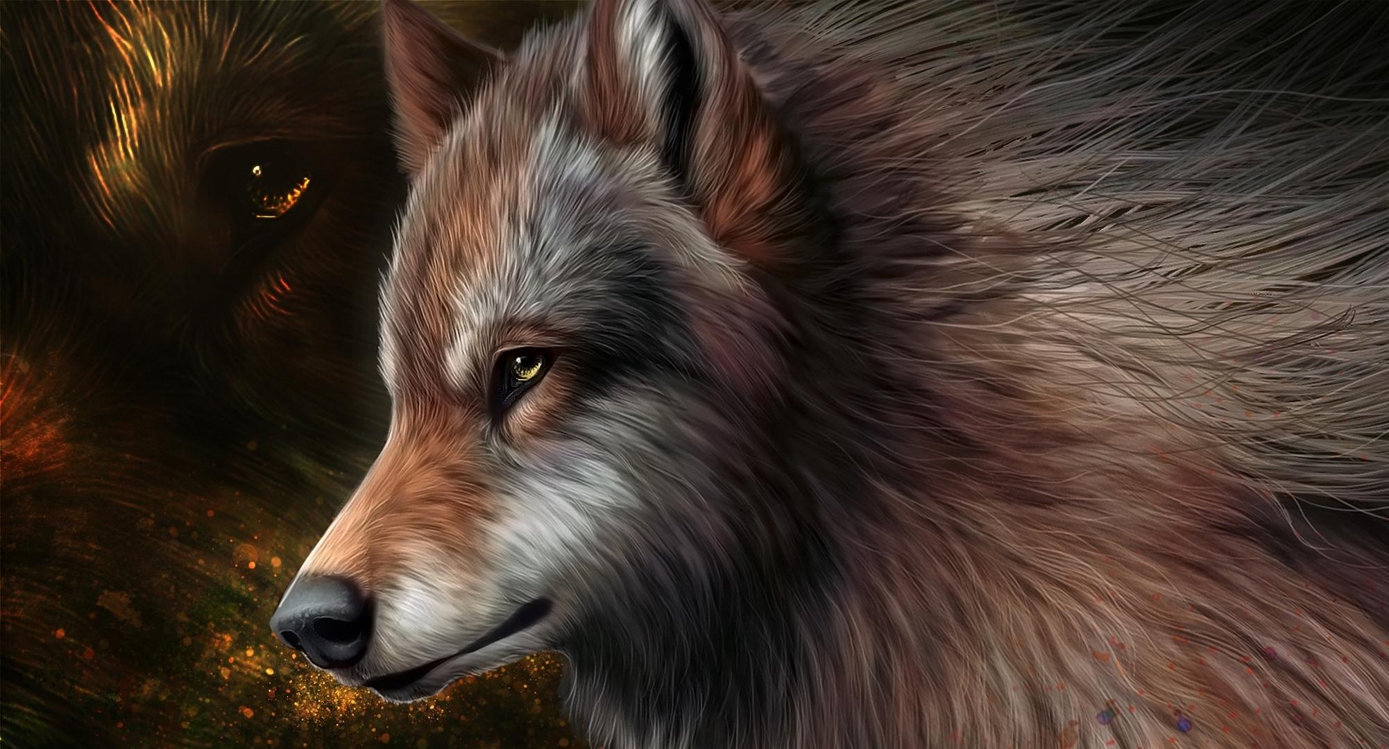 Черный волк со шрамами бесплатно