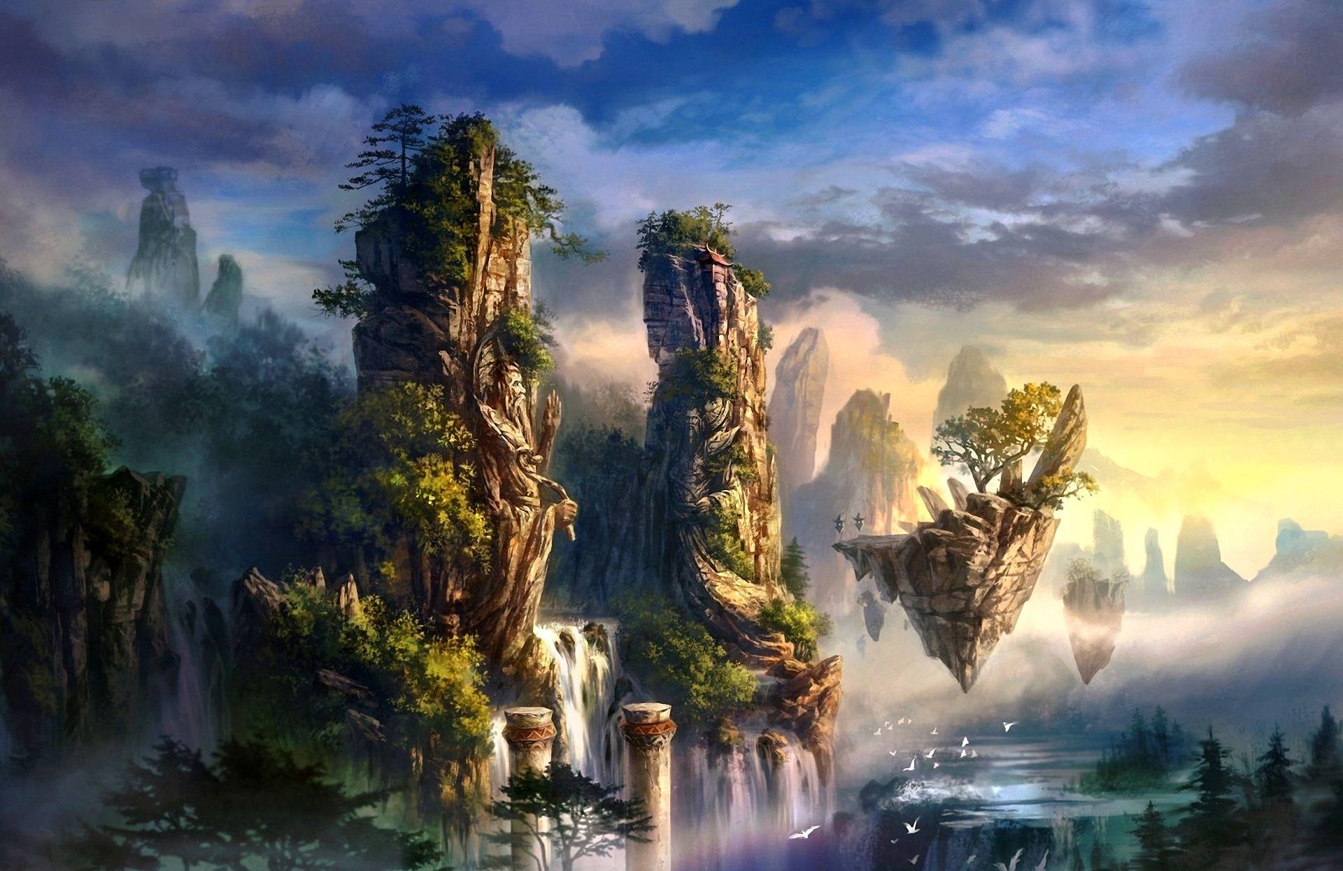 Фантастический пейзаж без смс