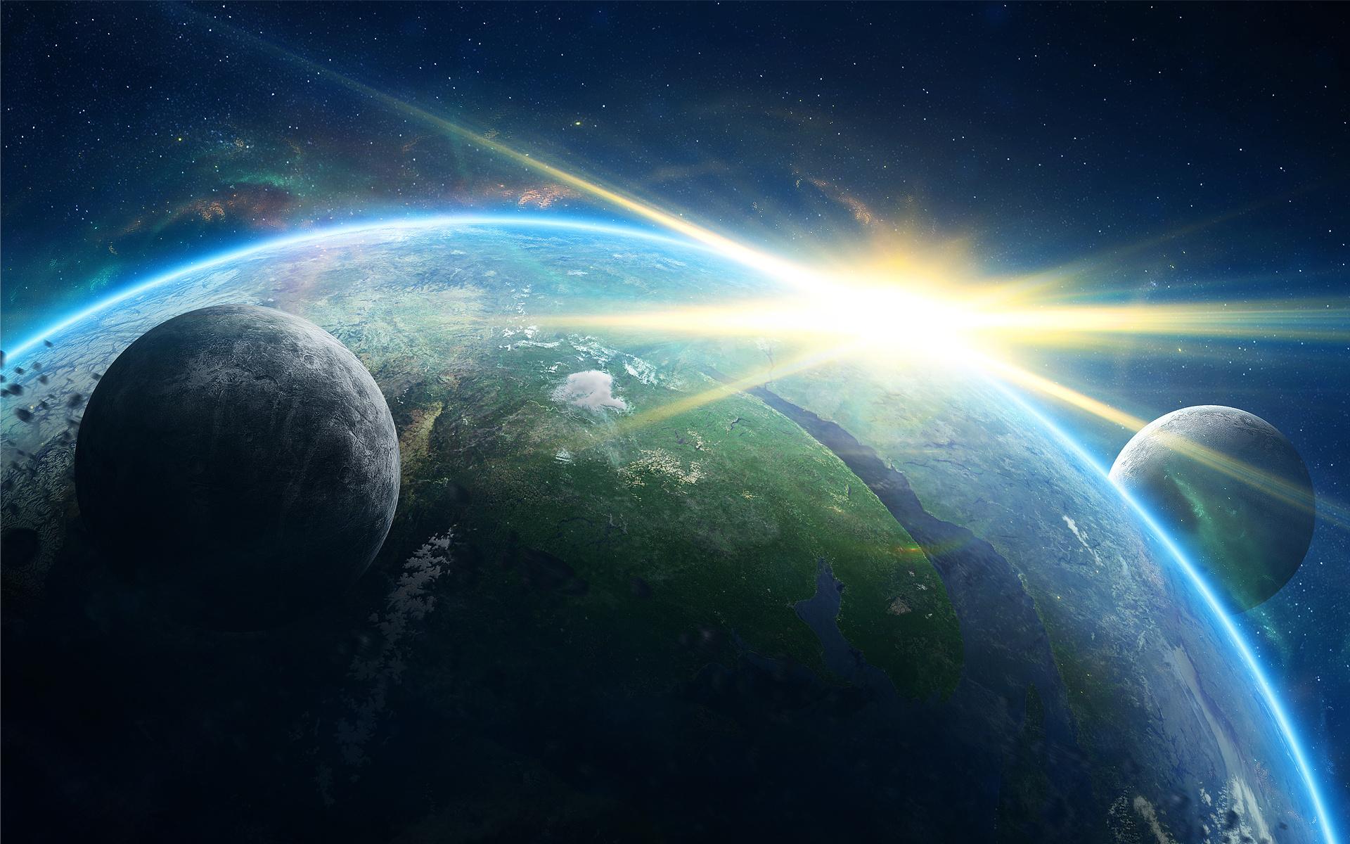 Обои планета спутник картинки на рабочий стол на тему Космос - скачать скачать