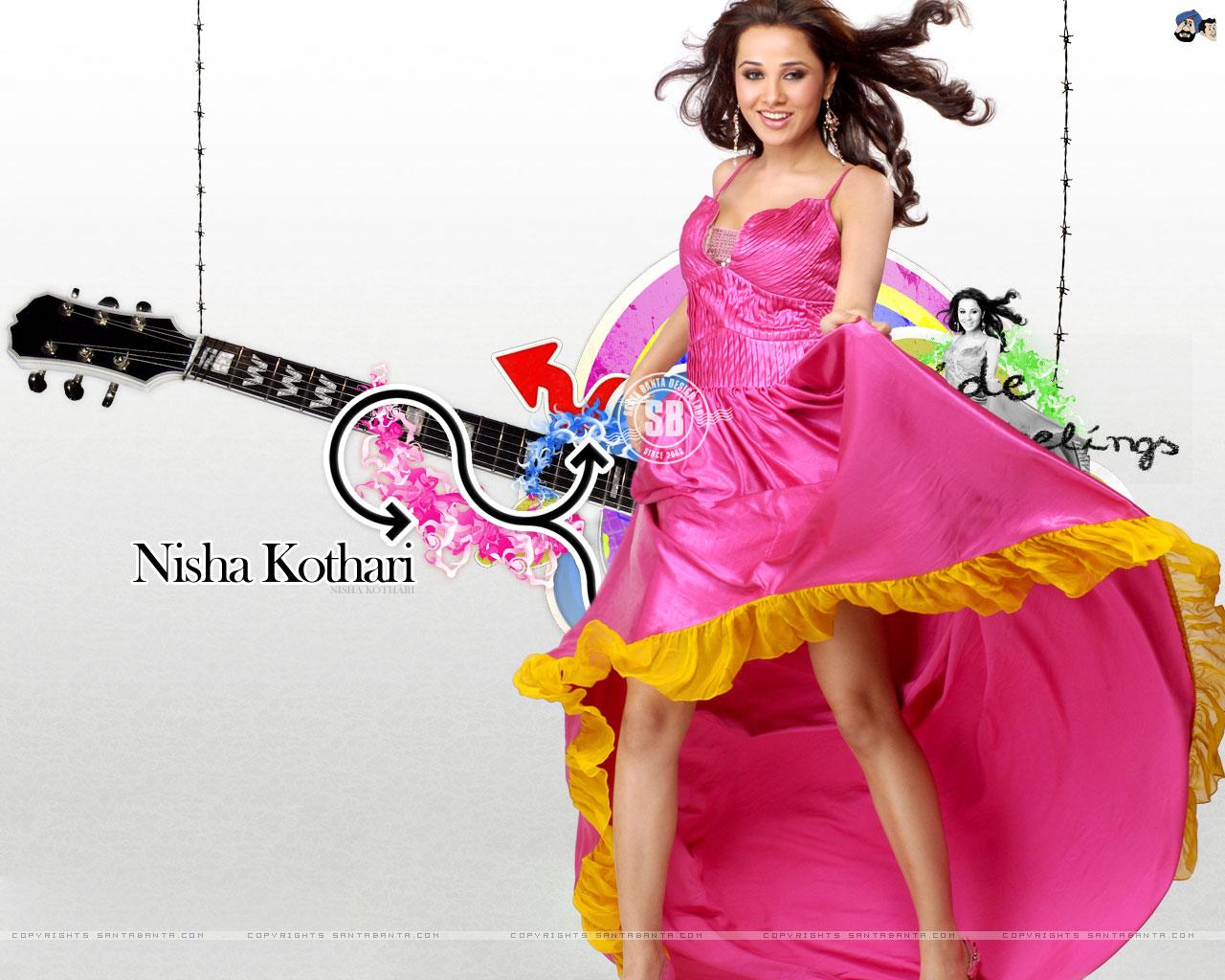 Картинка Nisha Kothari Индийские Знаменитости Ниша Котхари