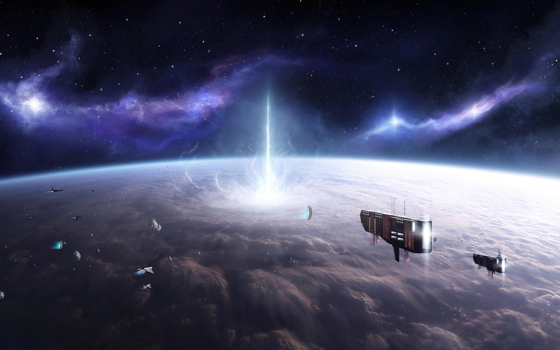 Обои космический корабль планета картинки на рабочий стол на тему Космос - скачать  № 3950447 без смс