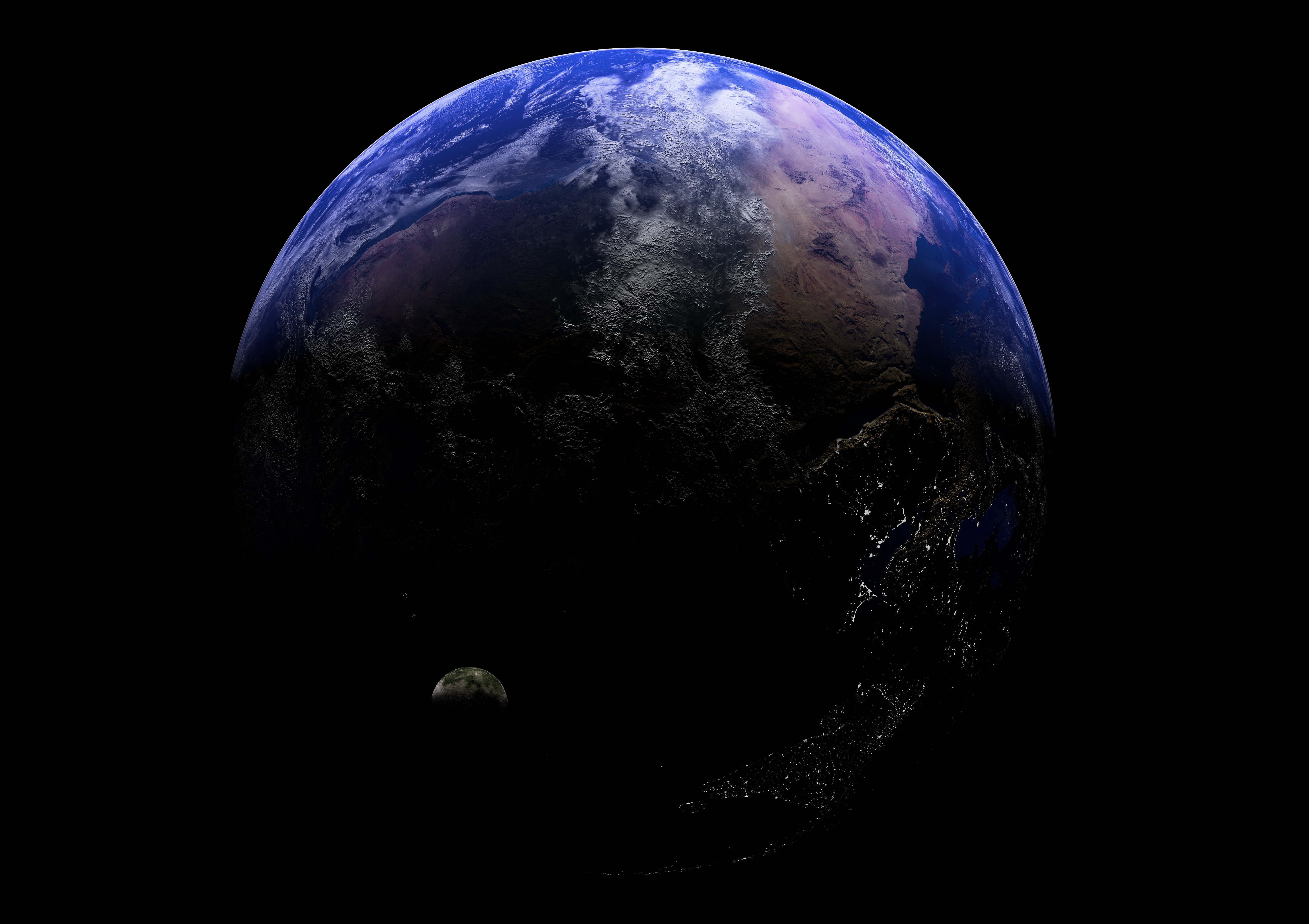 Обои космос земля спутник картинки на рабочий стол на тему Космос - скачать  № 1758129 бесплатно