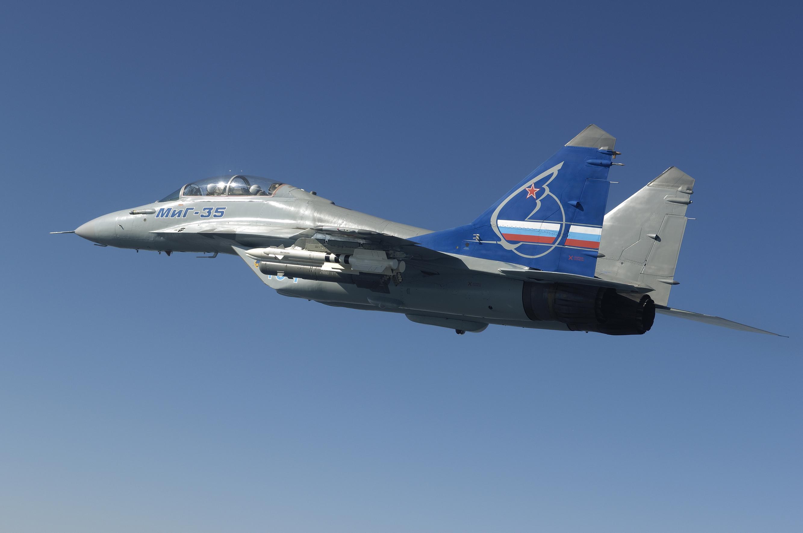 самолет ВВС РФ МиГ-35 Микоян  № 3741377 без смс