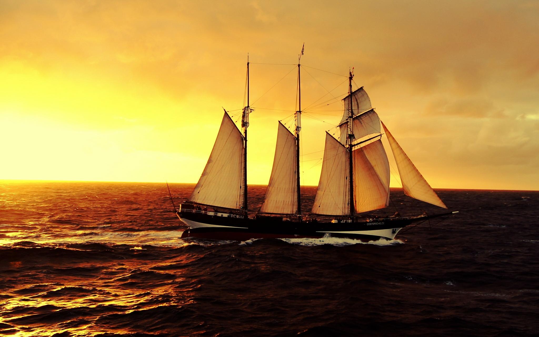 корабли на закате  № 3504071 загрузить