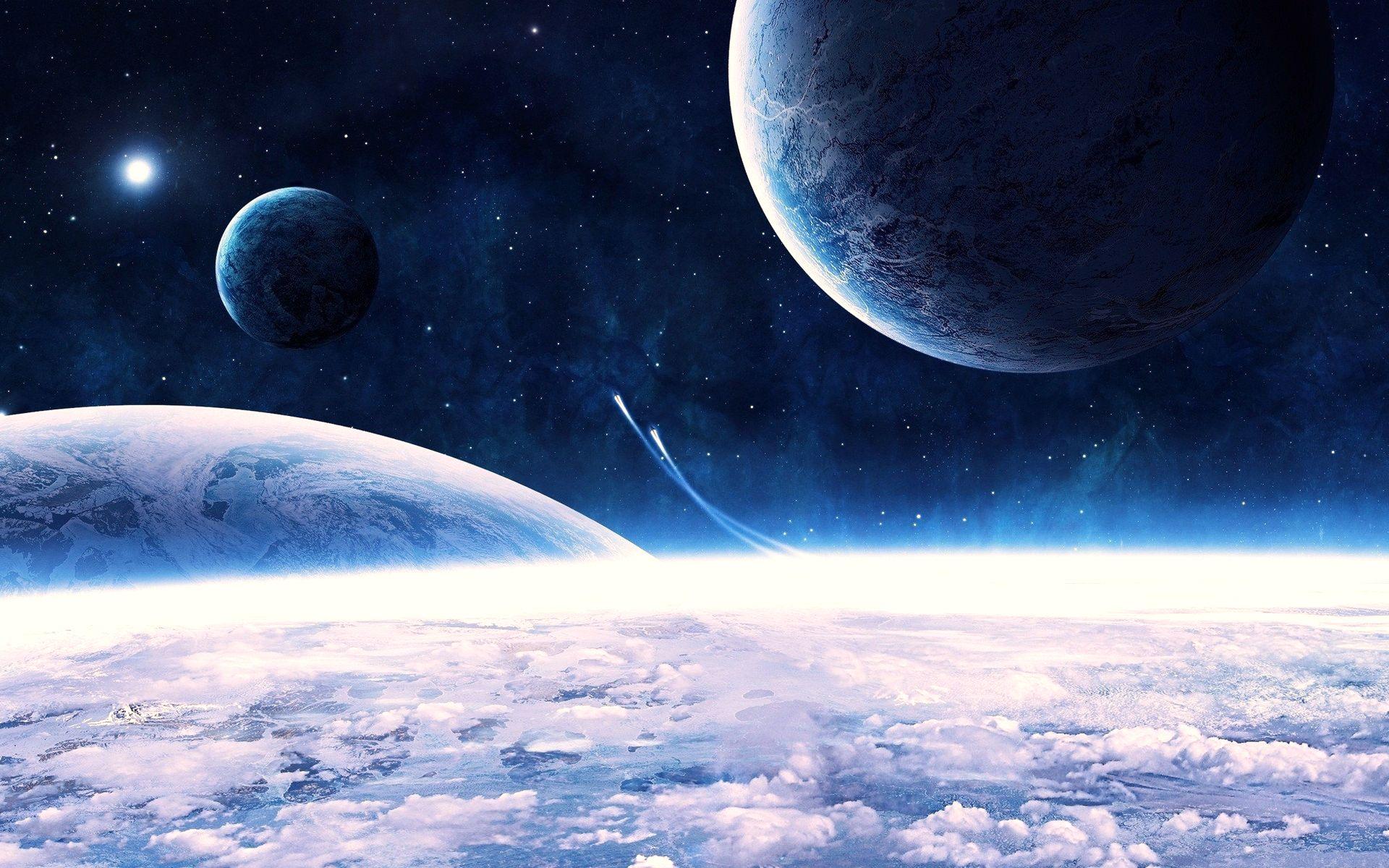 Обои Планеты синие картинки на рабочий стол на тему Космос - скачать  № 1765766 бесплатно