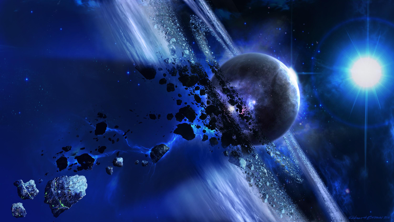 Обои космос планета метеор картинки на рабочий стол на тему Космос - скачать без смс