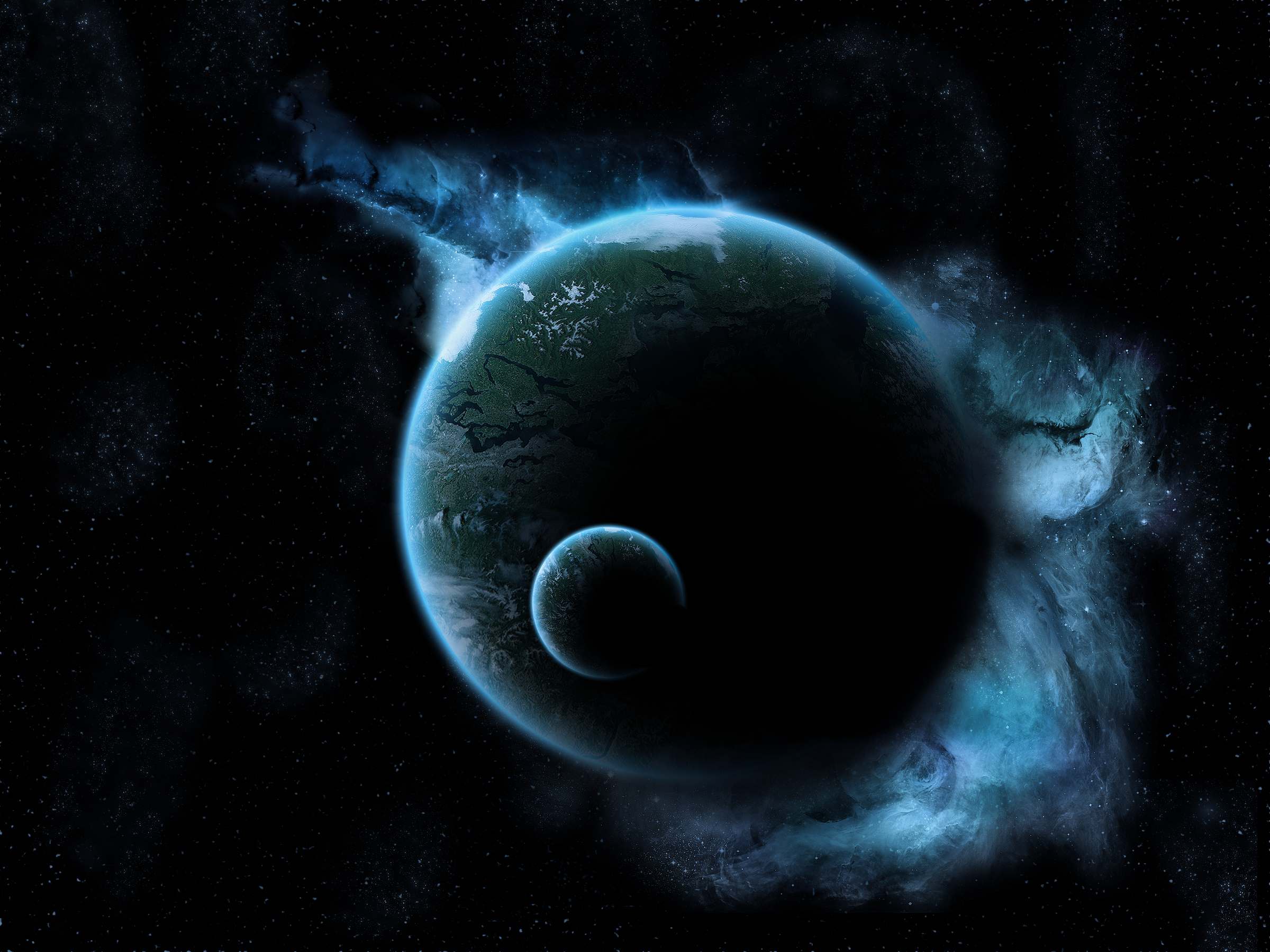Обои Темная планета картинки на рабочий стол на тему Космос - скачать  № 1763039 без смс