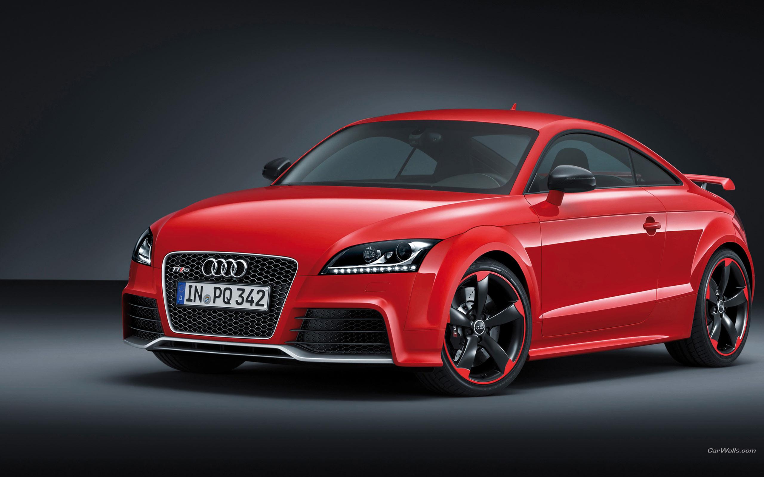 красный черный автомобиль Audi TT red black car  № 2626204  скачать
