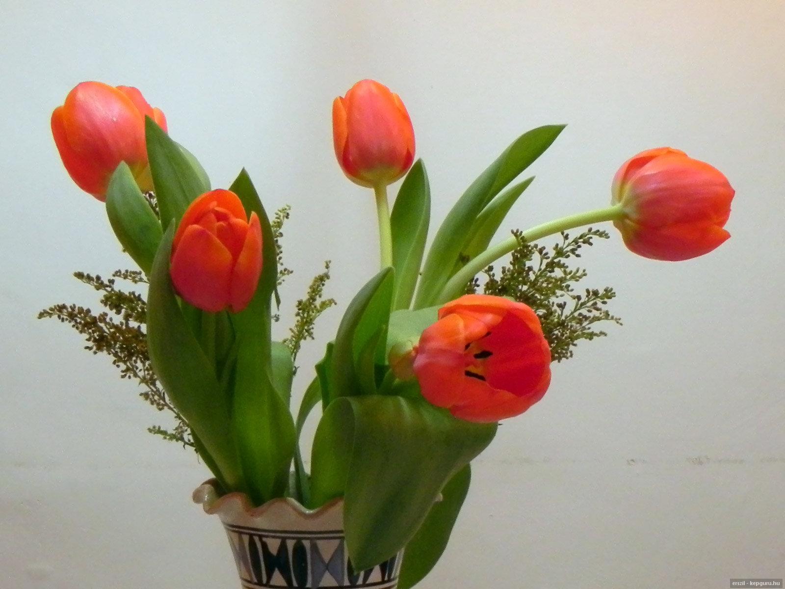 Тюльпаны цветов в вазе