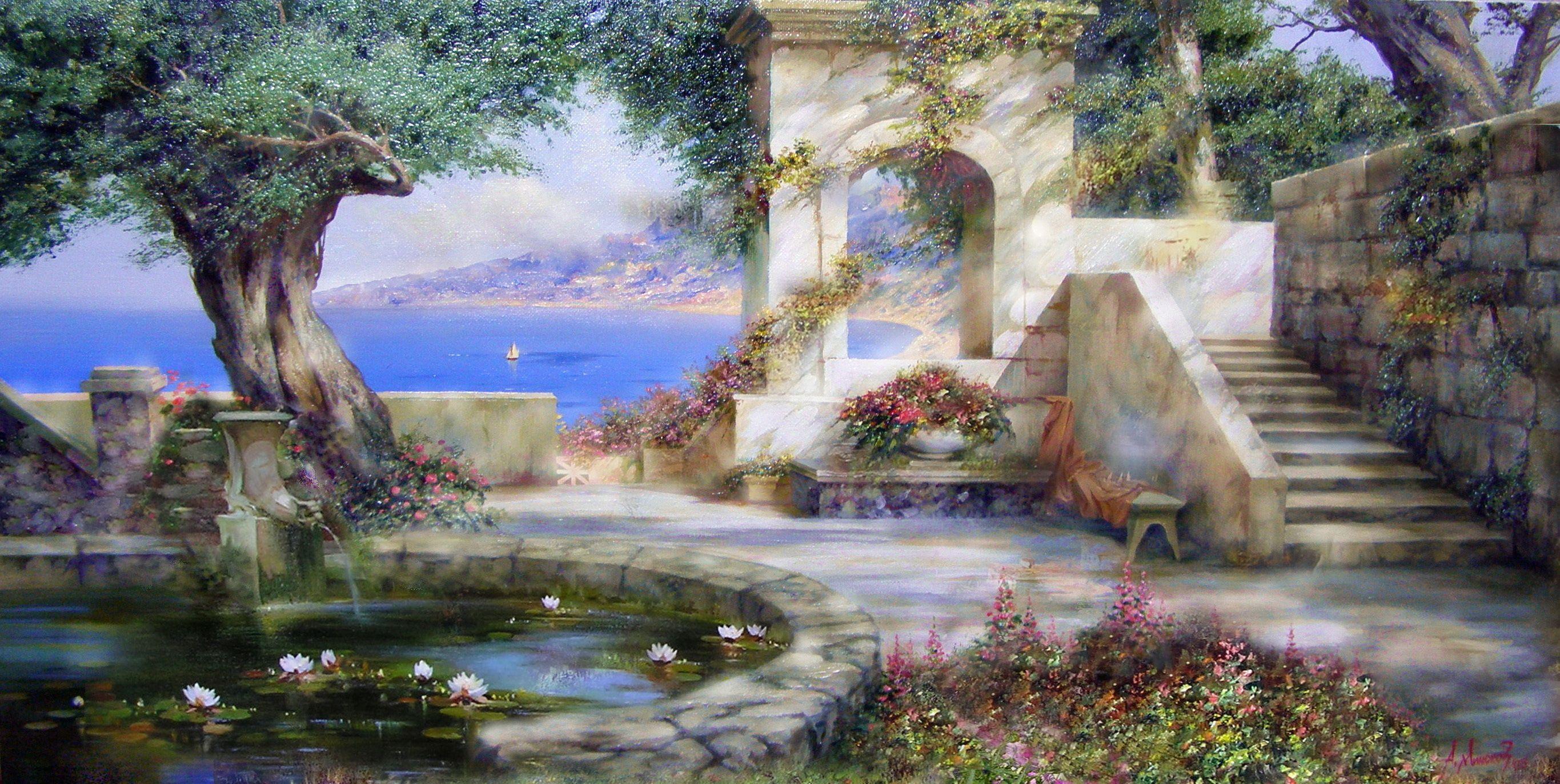 романтический фонтан скачать