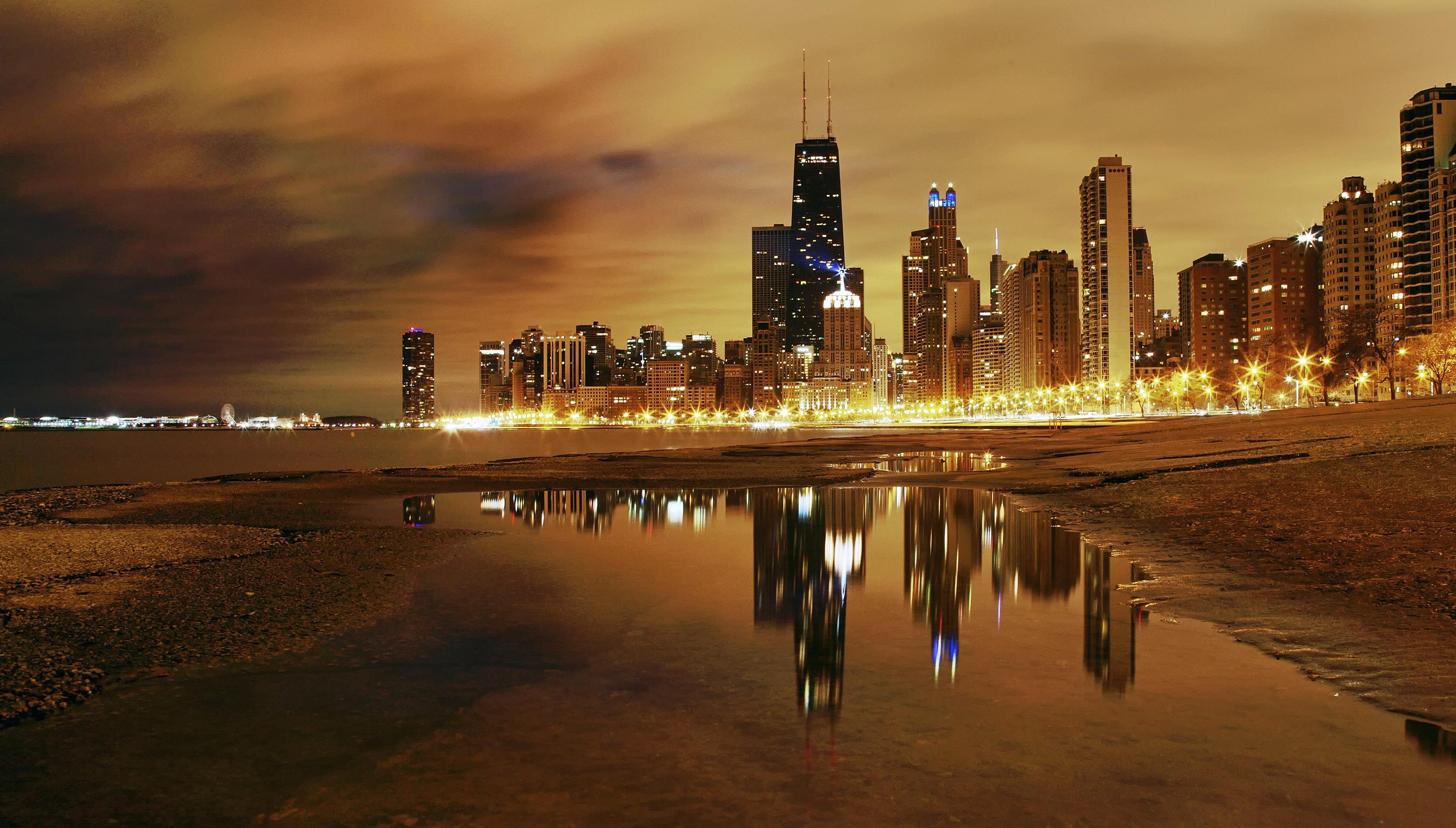 чикаго огни город Chicago lights the city скачать