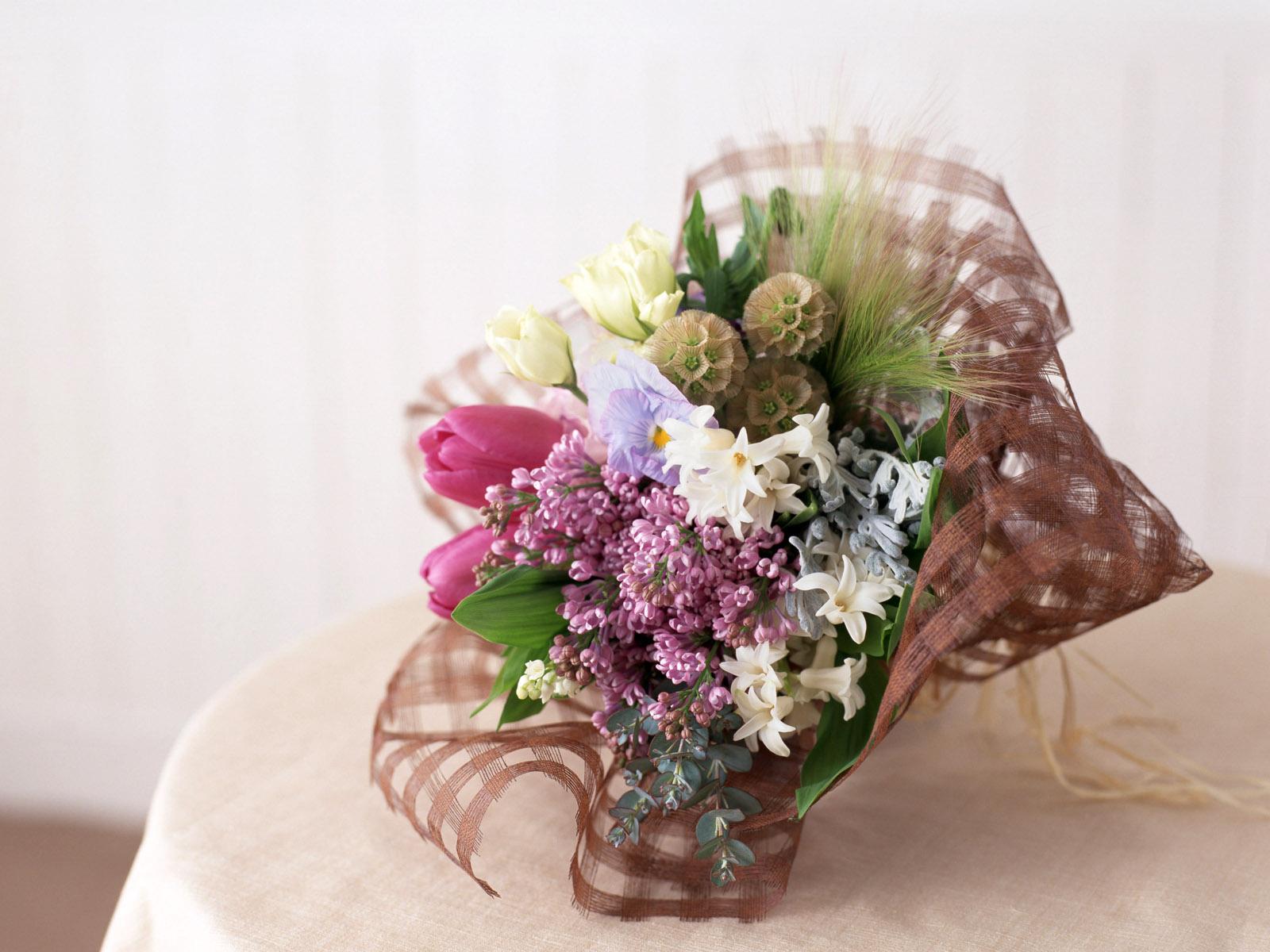 Оформление букета цветов фото