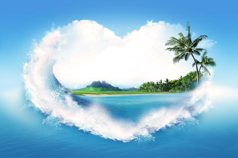 Море вода деревья облака  № 1035027  скачать
