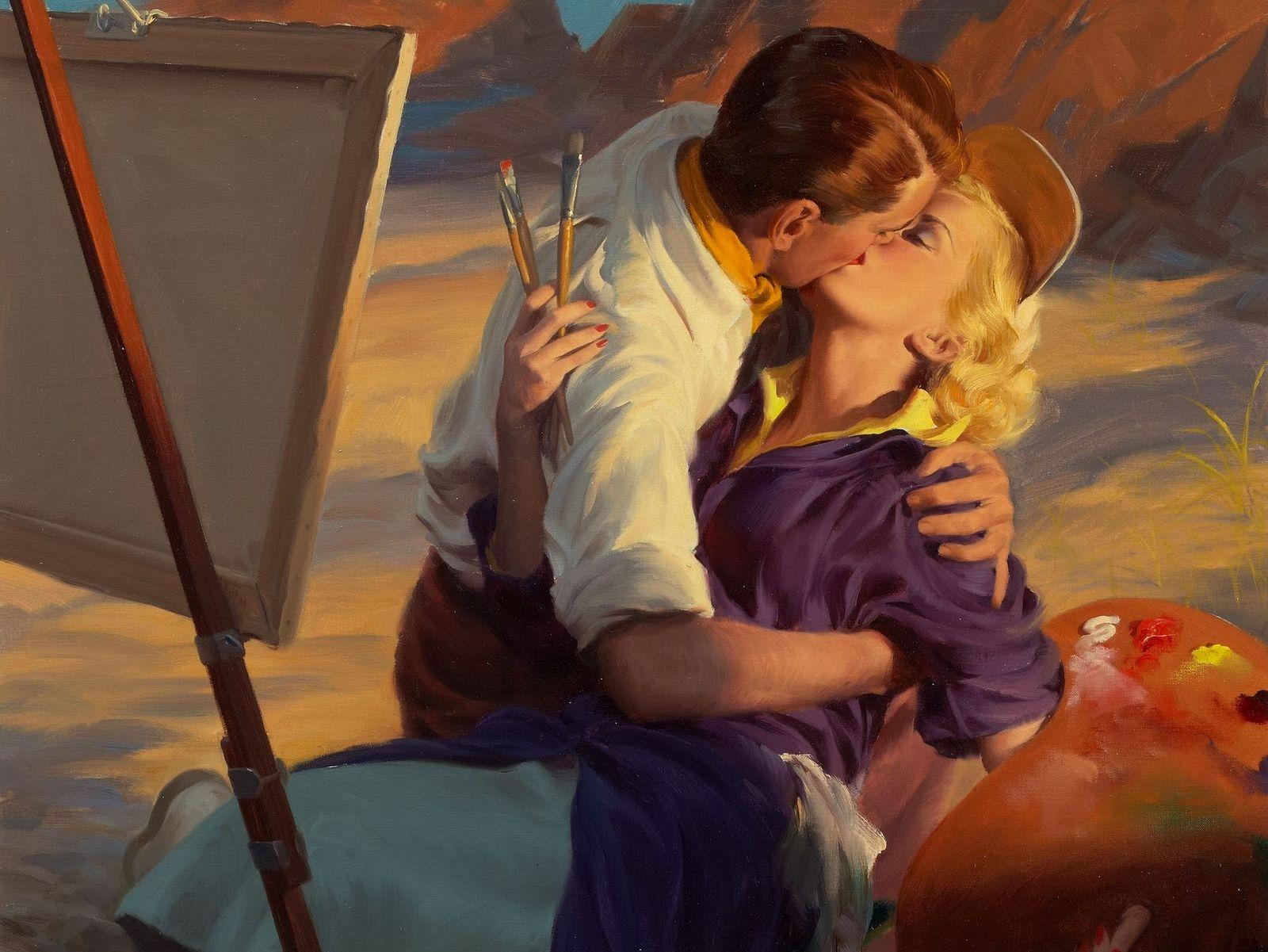 картина поцелуй: