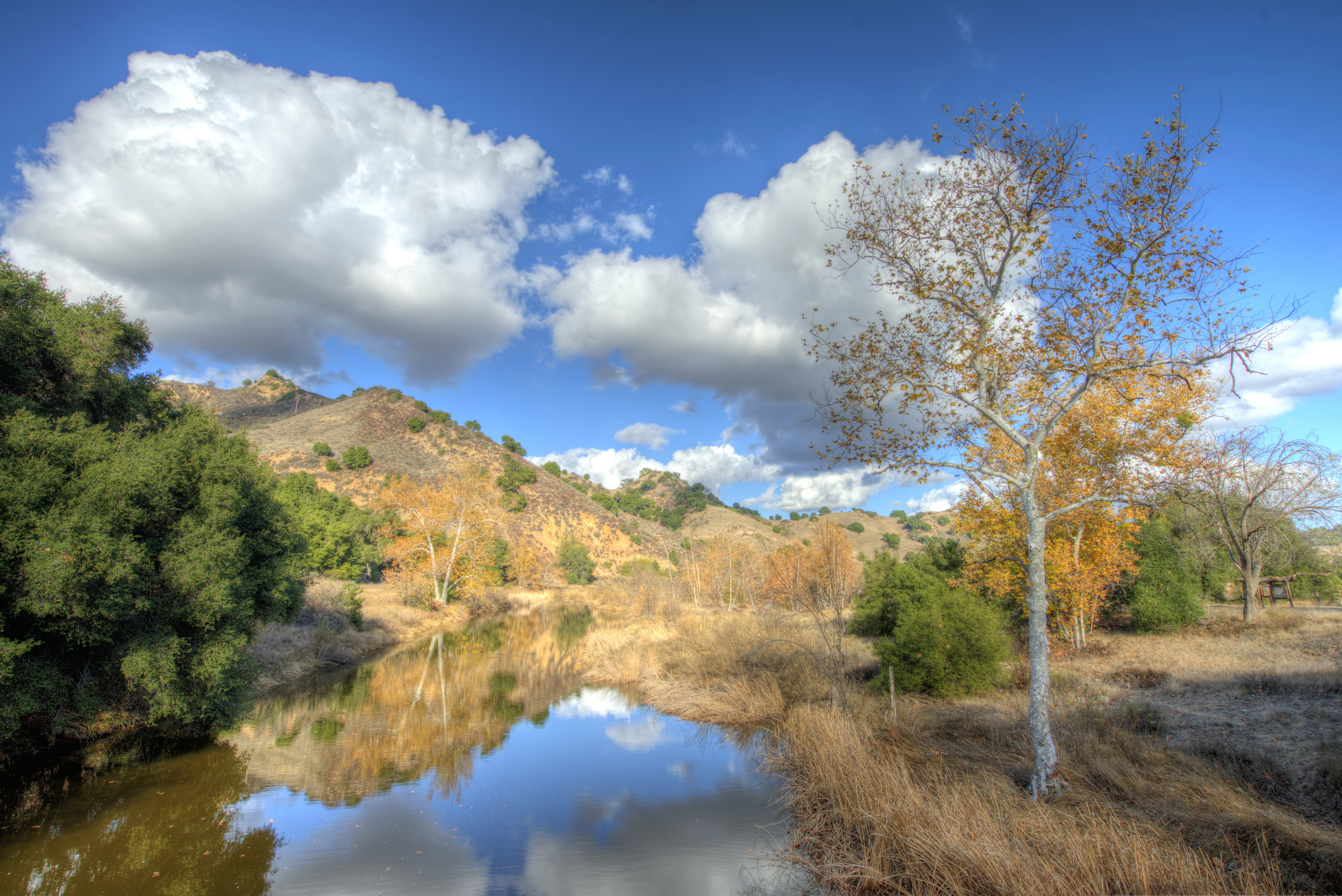 Природа облака небо река  № 2558858  скачать