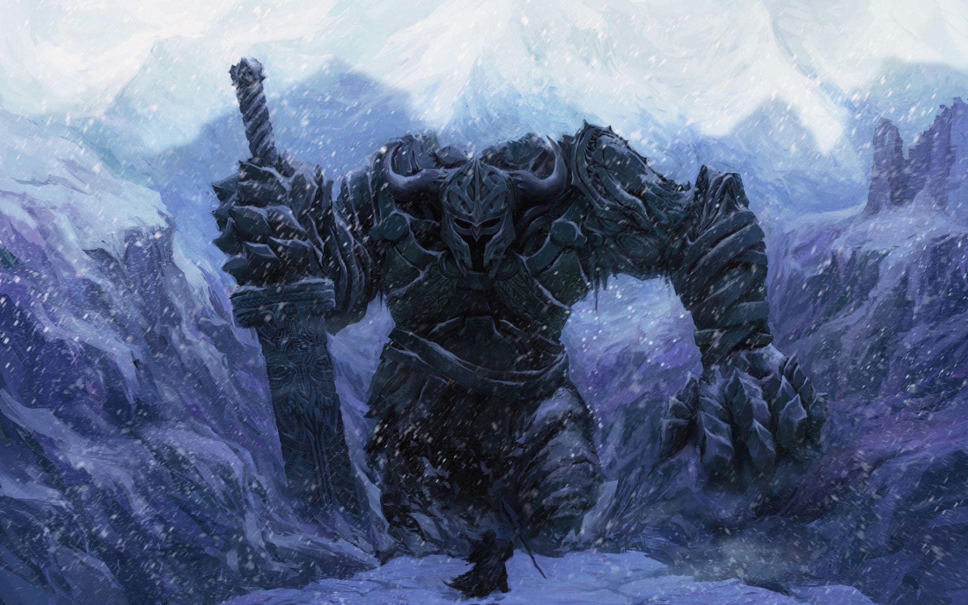 Воин на скале загрузить