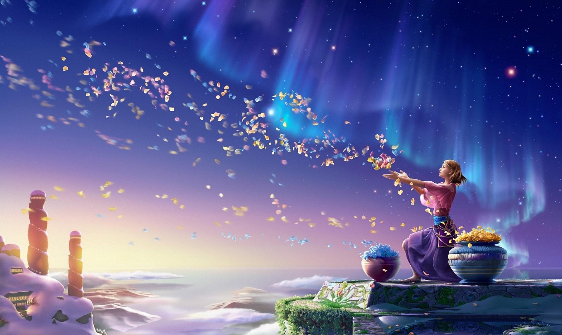 Принцесса под небесными фонариками  № 2222811 бесплатно