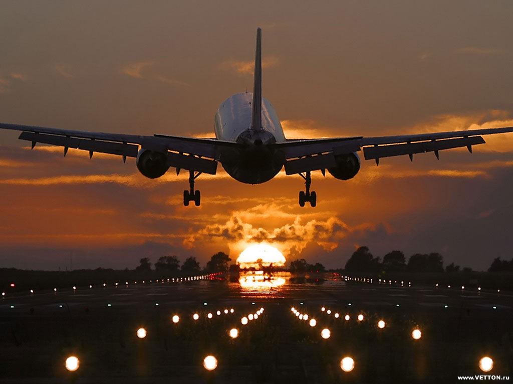 взлет самолет ночь без смс