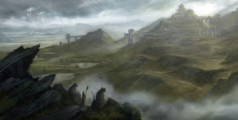 замок крепость обрыв туман загрузить