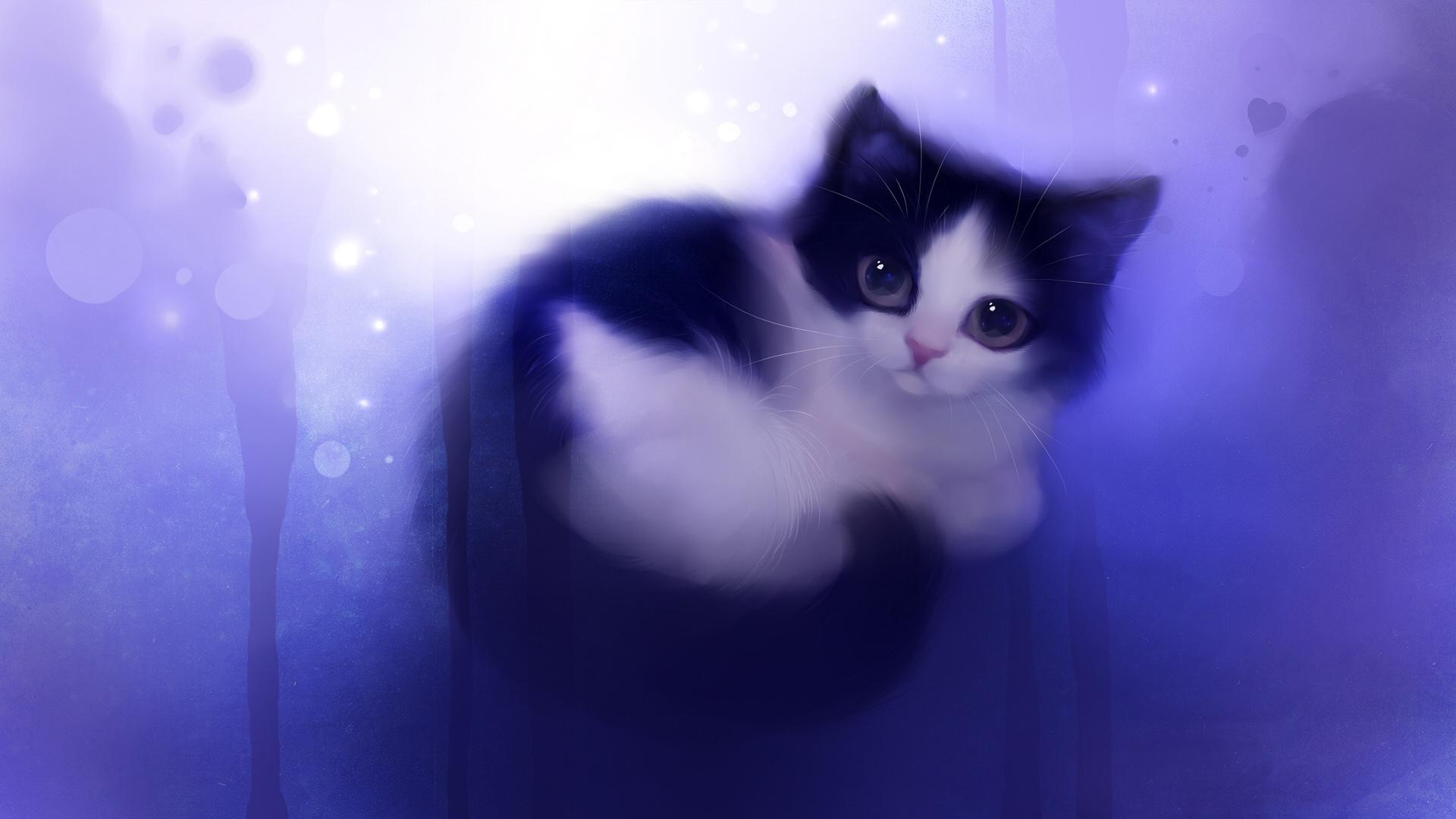 кошка язык глаза сердечки  № 2824872 без смс