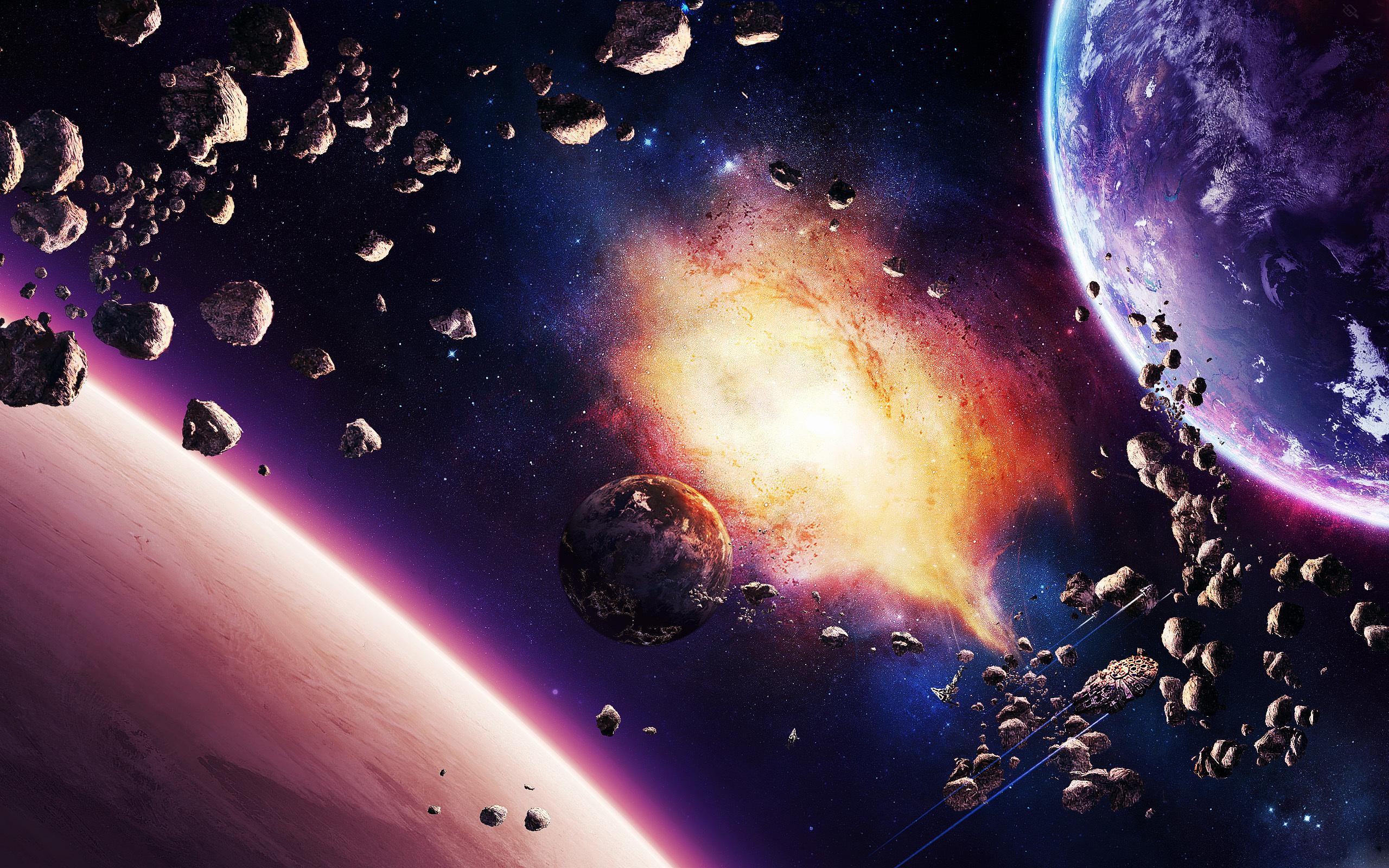 Обои Космос Корабль планета картинки на рабочий стол на тему Космос - скачать без смс