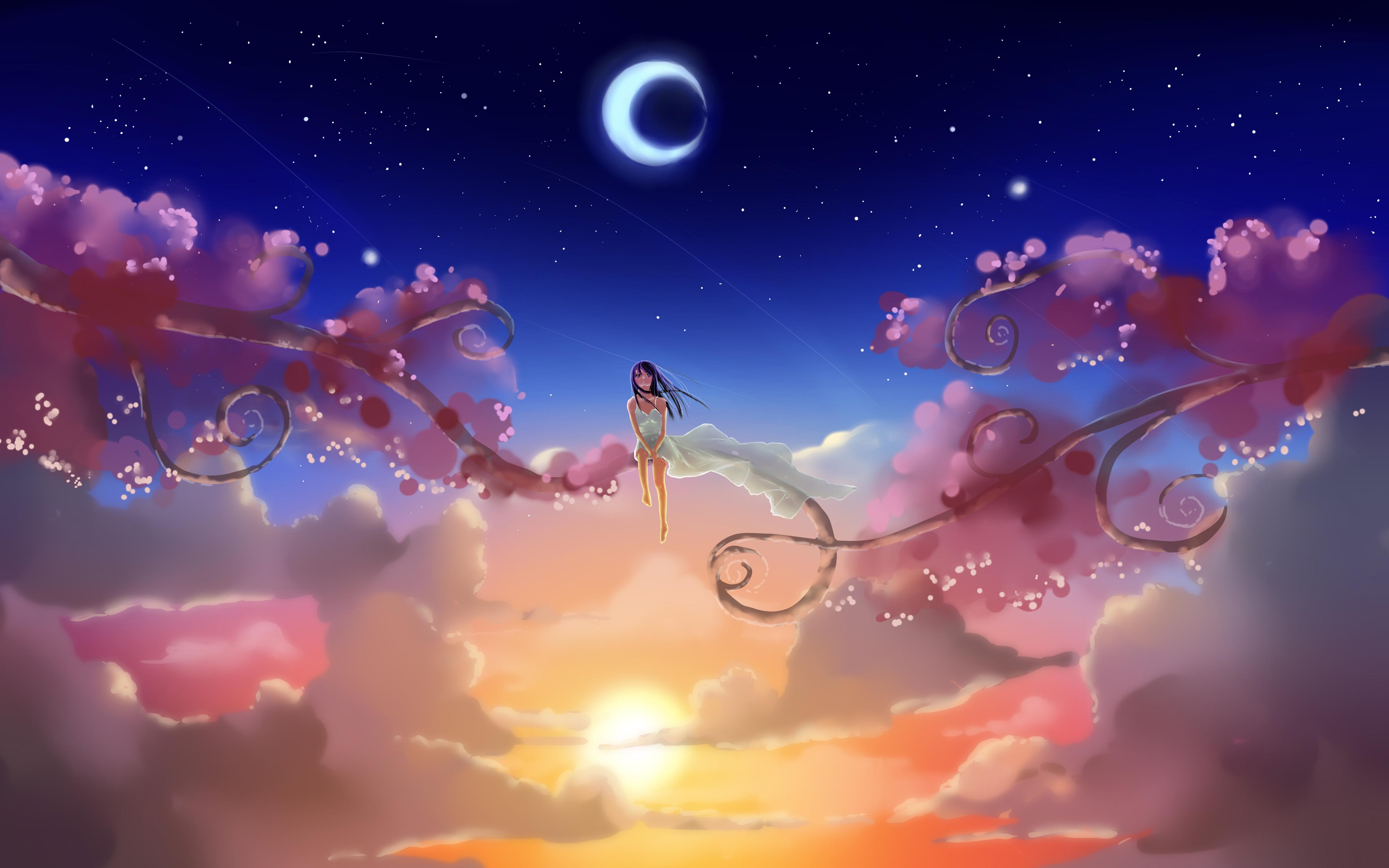 Принцесса под небесными фонариками  № 2222731 бесплатно