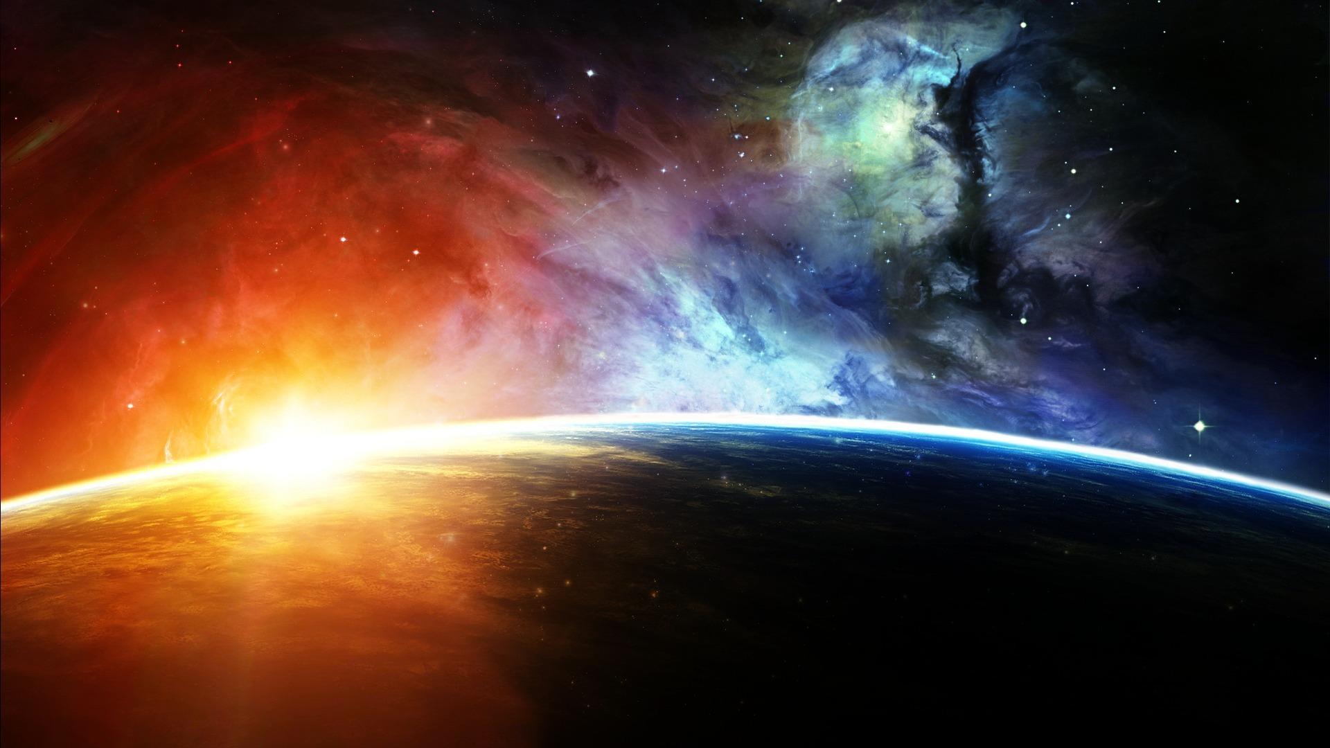 Обои Свечение за планетами картинки на рабочий стол на тему Космос - скачать  № 1772701 без смс