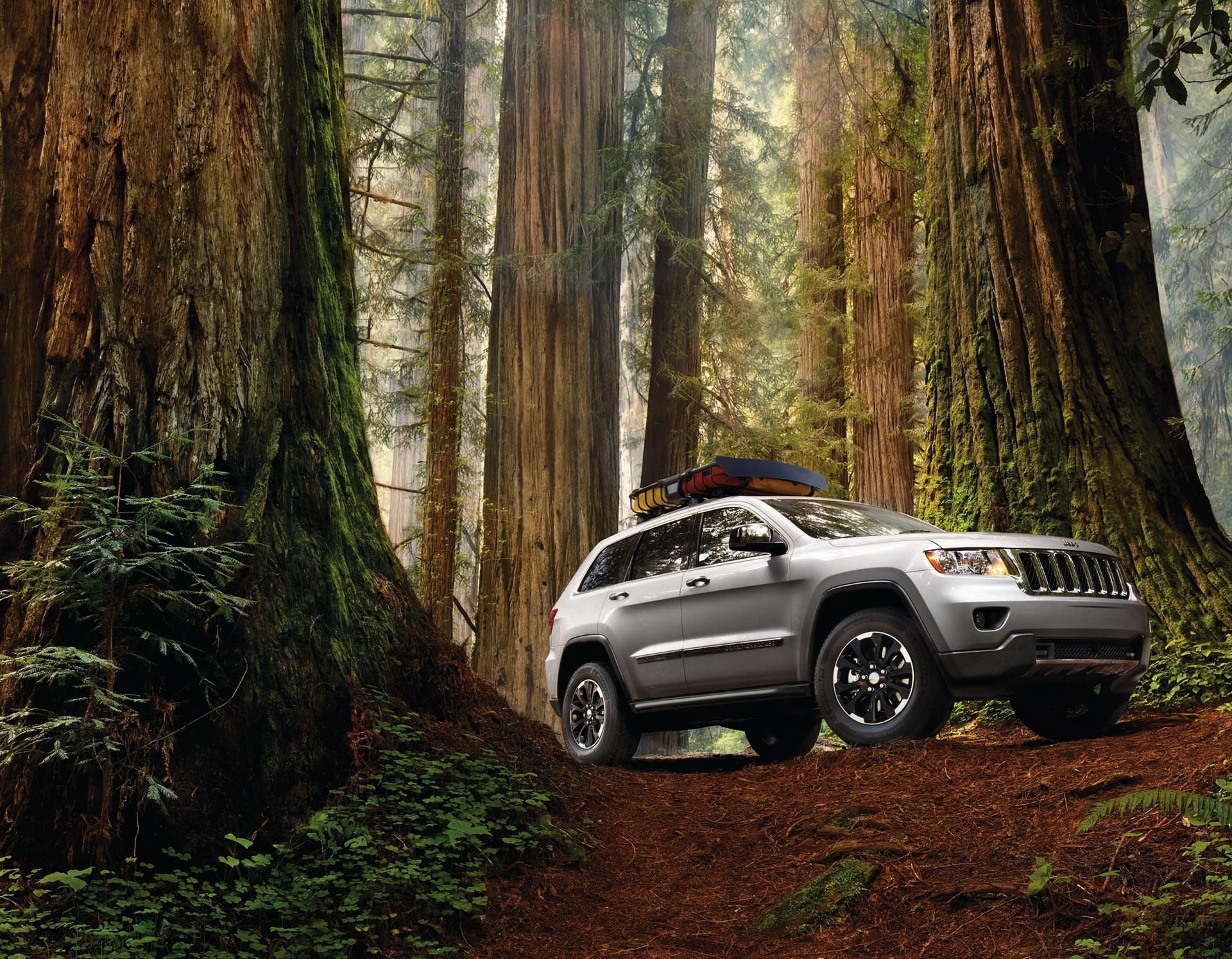 Jeep Grand Cherokee закат дорога загрузить