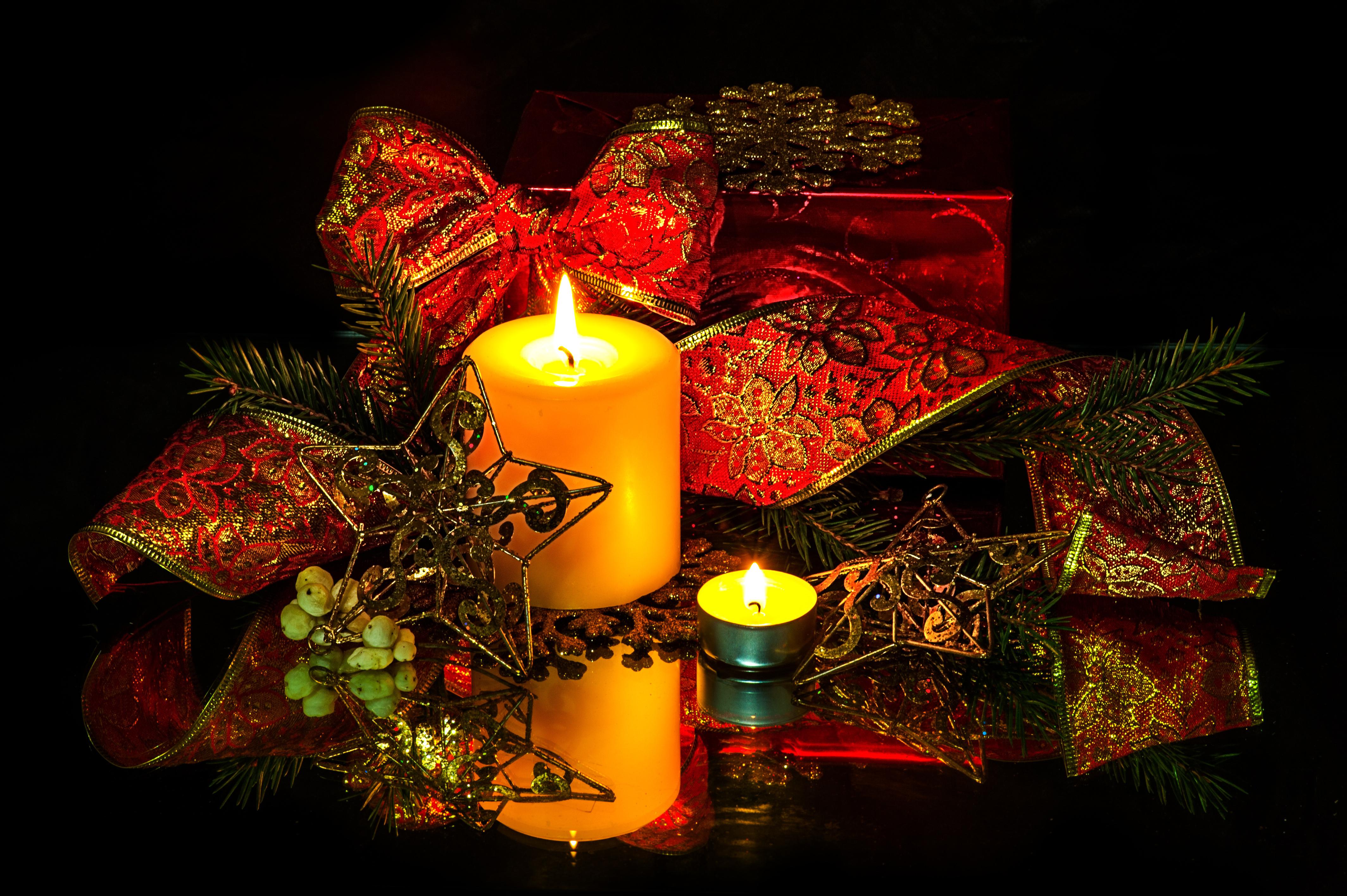 Свечи новый год  № 1395229  скачать