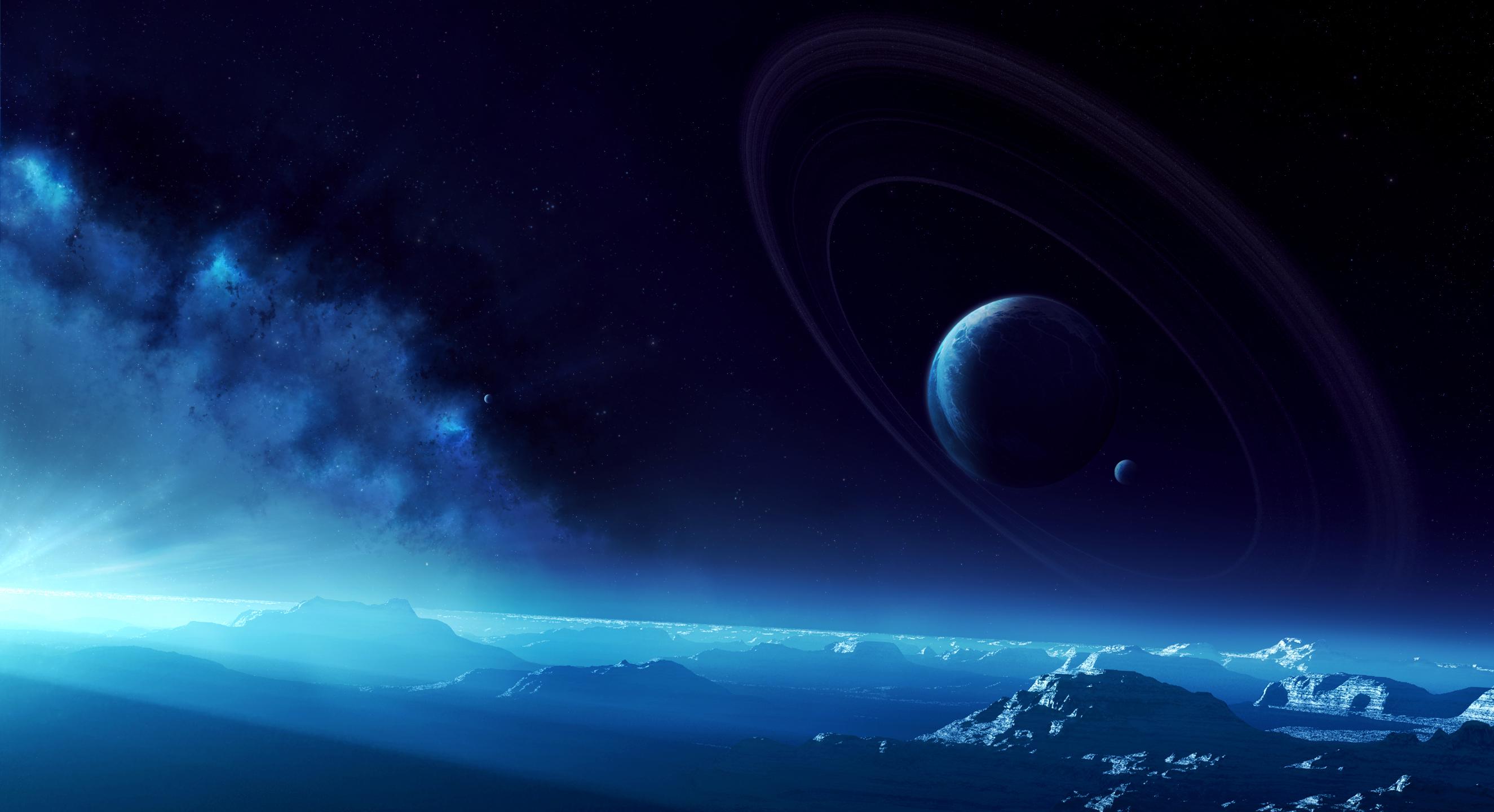 Обои Планеты синие картинки на рабочий стол на тему Космос - скачать  № 1765770 без смс