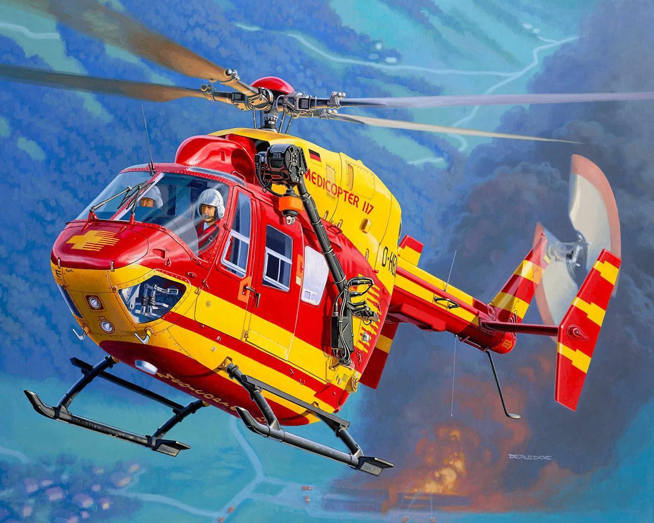Как рисуют вертолеты видео