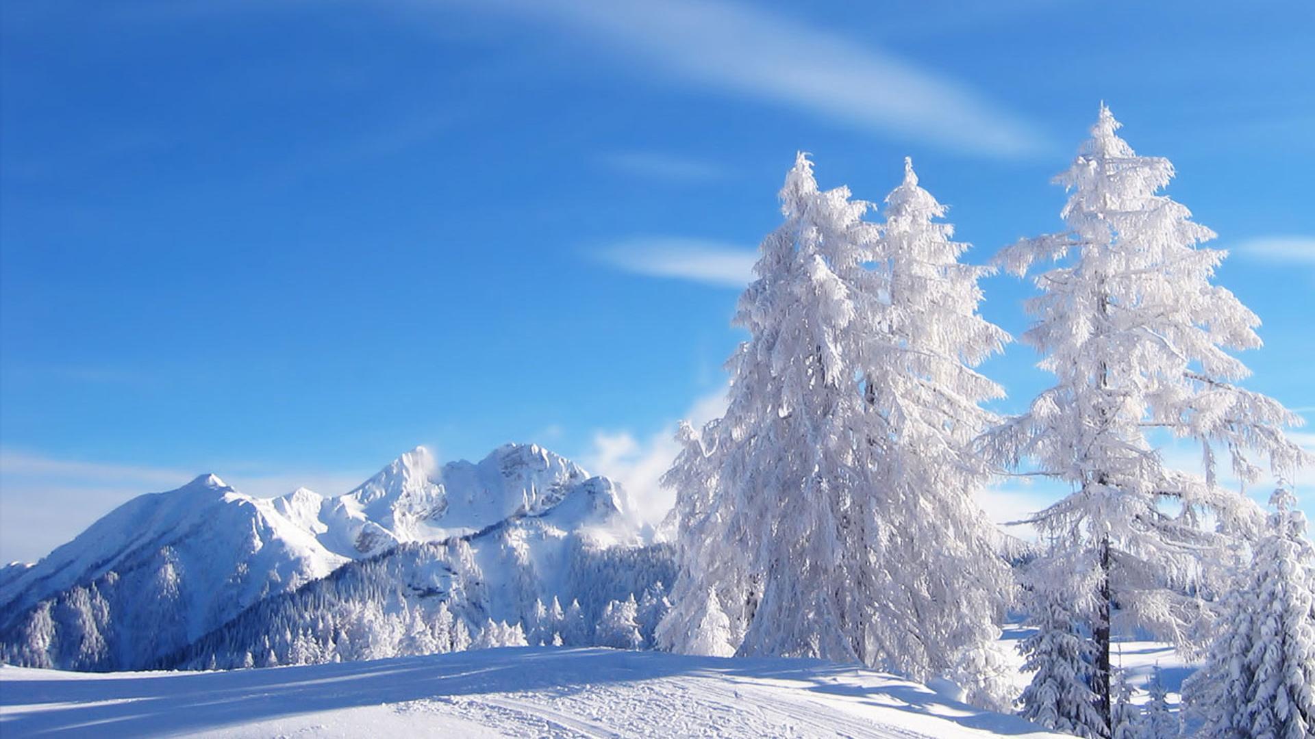 красивые обои для рабочего стола во весь экран зима № 208902 бесплатно