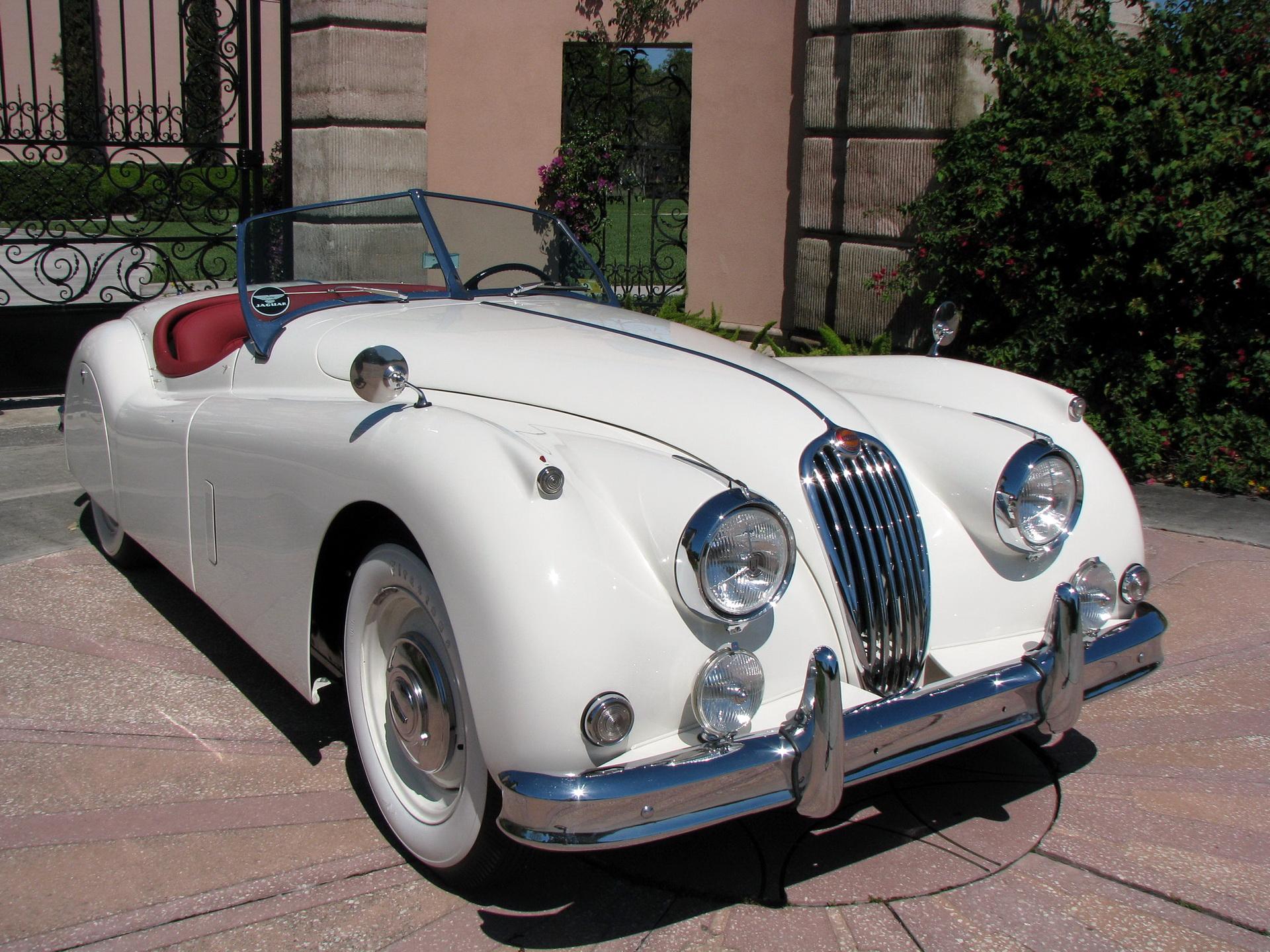 Обои для рабочего стола Jaguar 1957 XK 140 Roadster Родстер машина 1920x1440 Ягуар авто машины автомобиль Автомобили