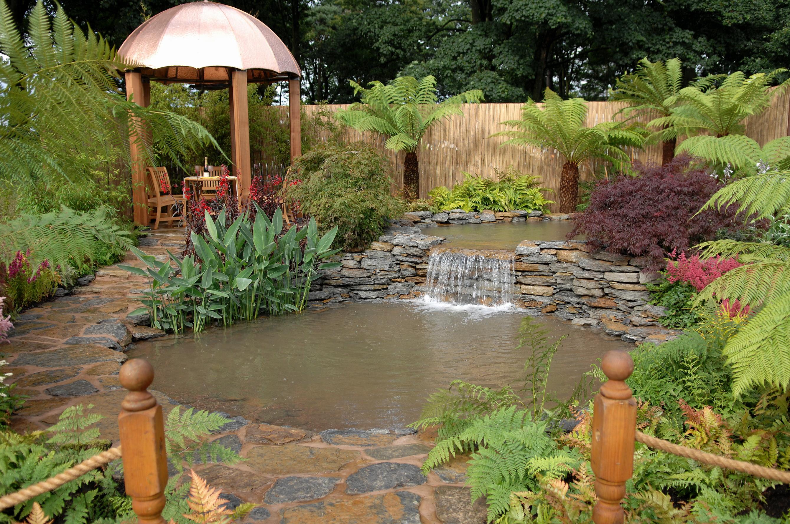 Домик сад камушки ручей скачать