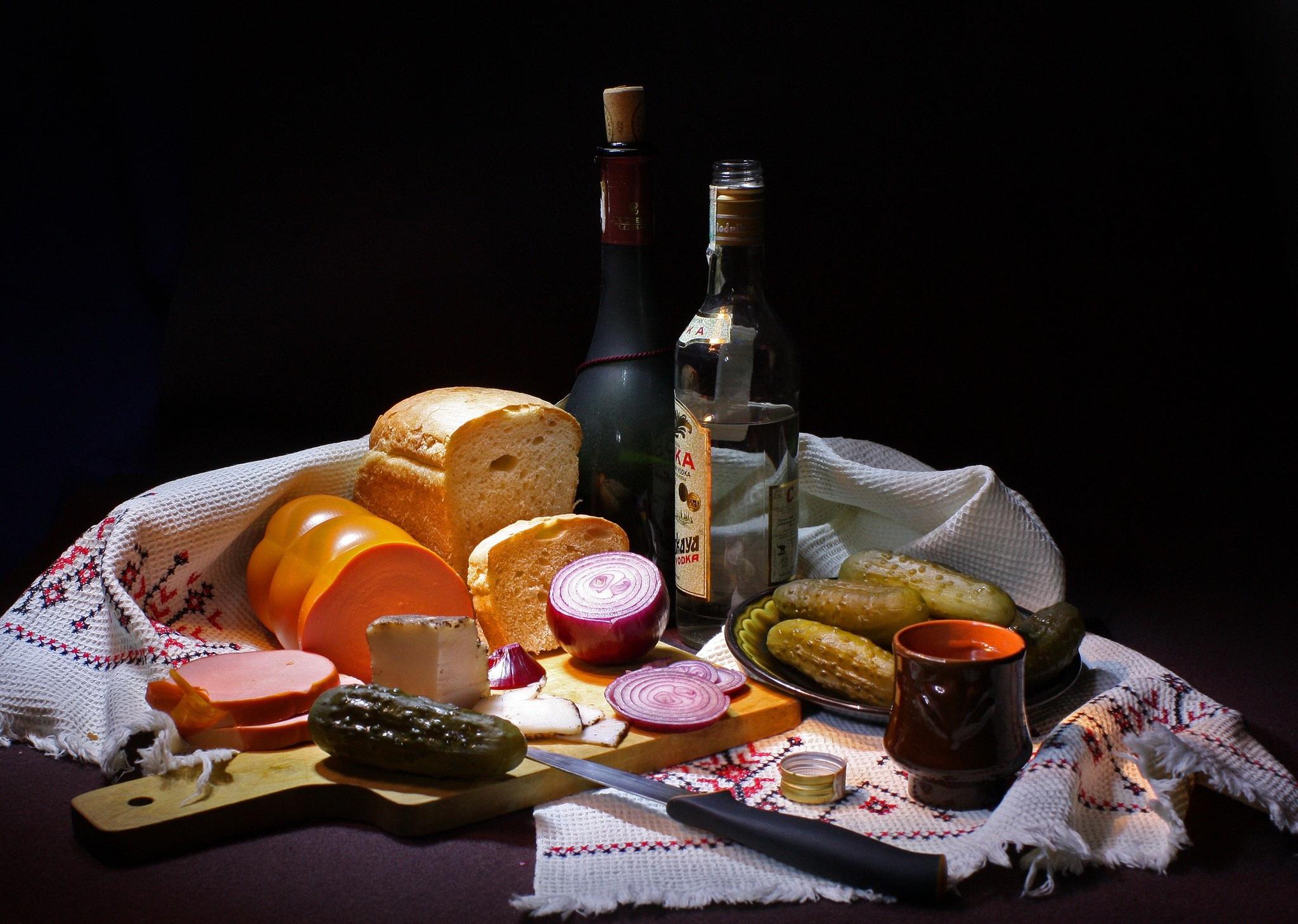 натюрморты с едой: