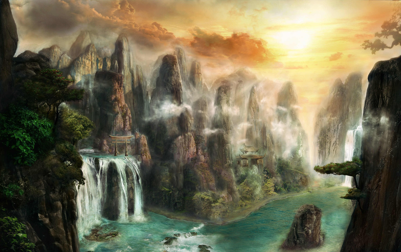 Фантастический пейзаж бесплатно