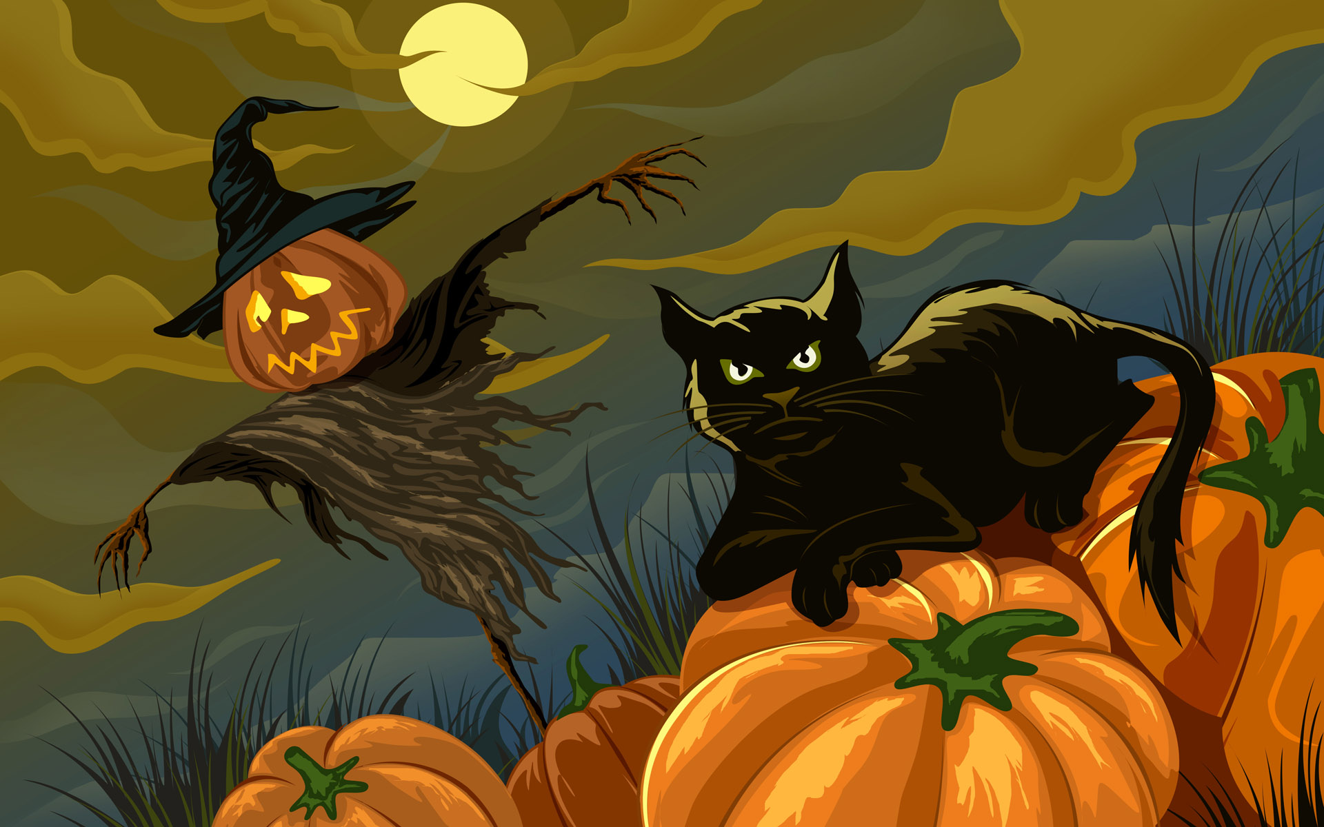 Black Cat Halloween Wallpaper  WallpaperSafari