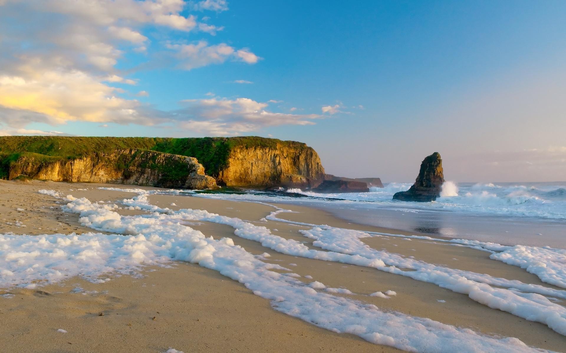 скала берег волны  № 2501536  скачать