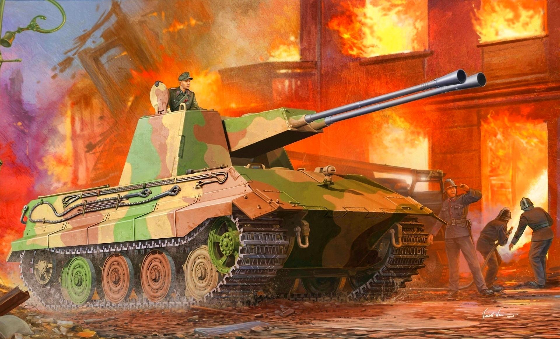 Обои Рисованные Танки зсу, е-75 Армия Фото 284607