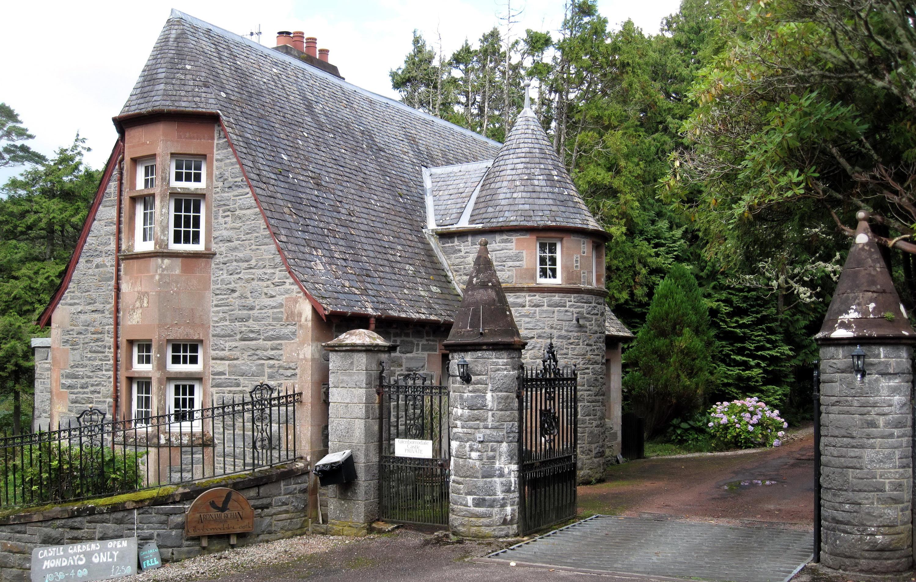 Шотландский каменный забор  № 2453314  скачать