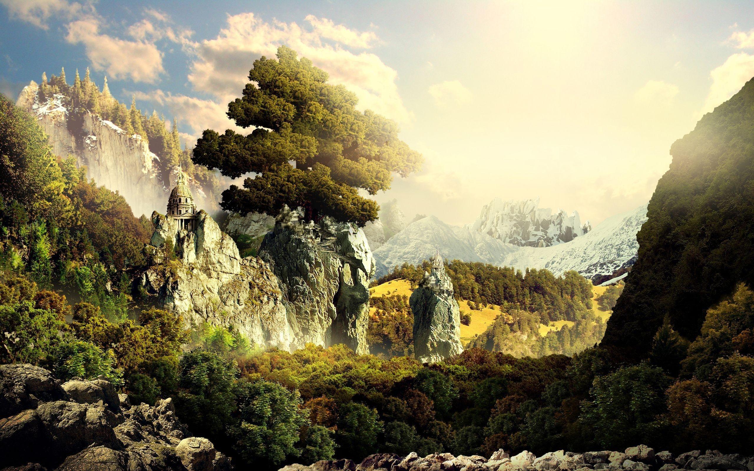 графика природа деревья горы дом  № 3243680 без смс