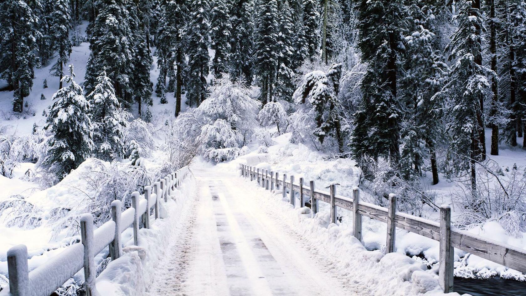 Заставка на комп снег 2