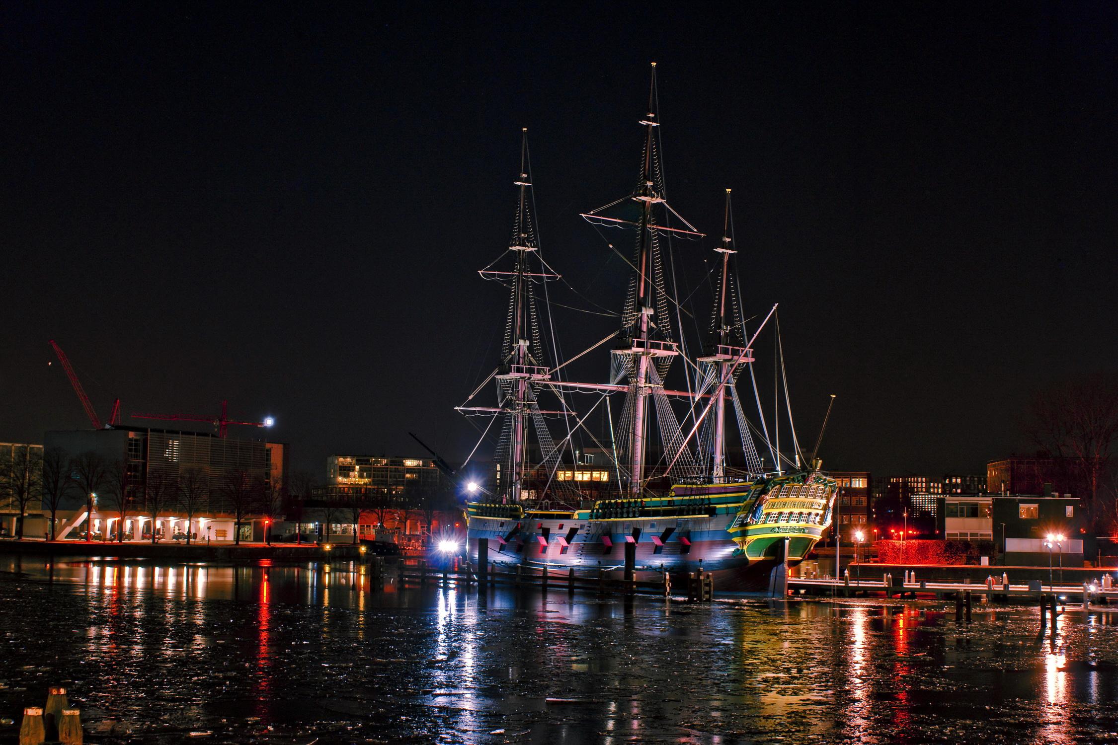 ночь яхта корабль  № 3498341 загрузить