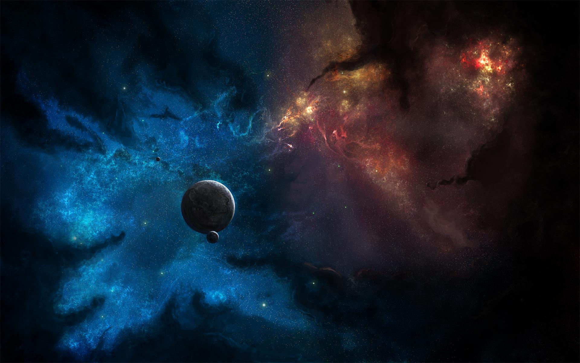 Обои Туманность со звездами картинки на рабочий стол на тему Космос - скачать загрузить