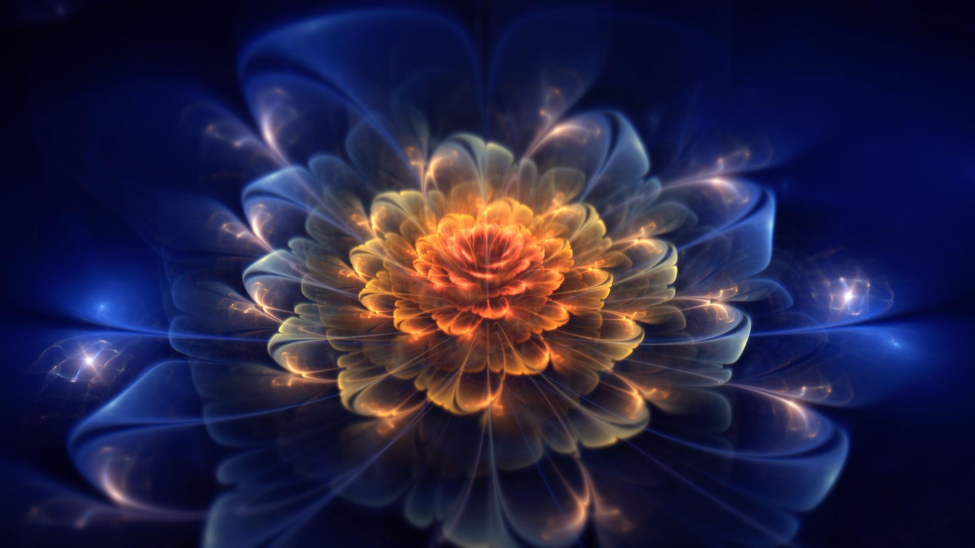 графика цветы абстракция 3D скачать
